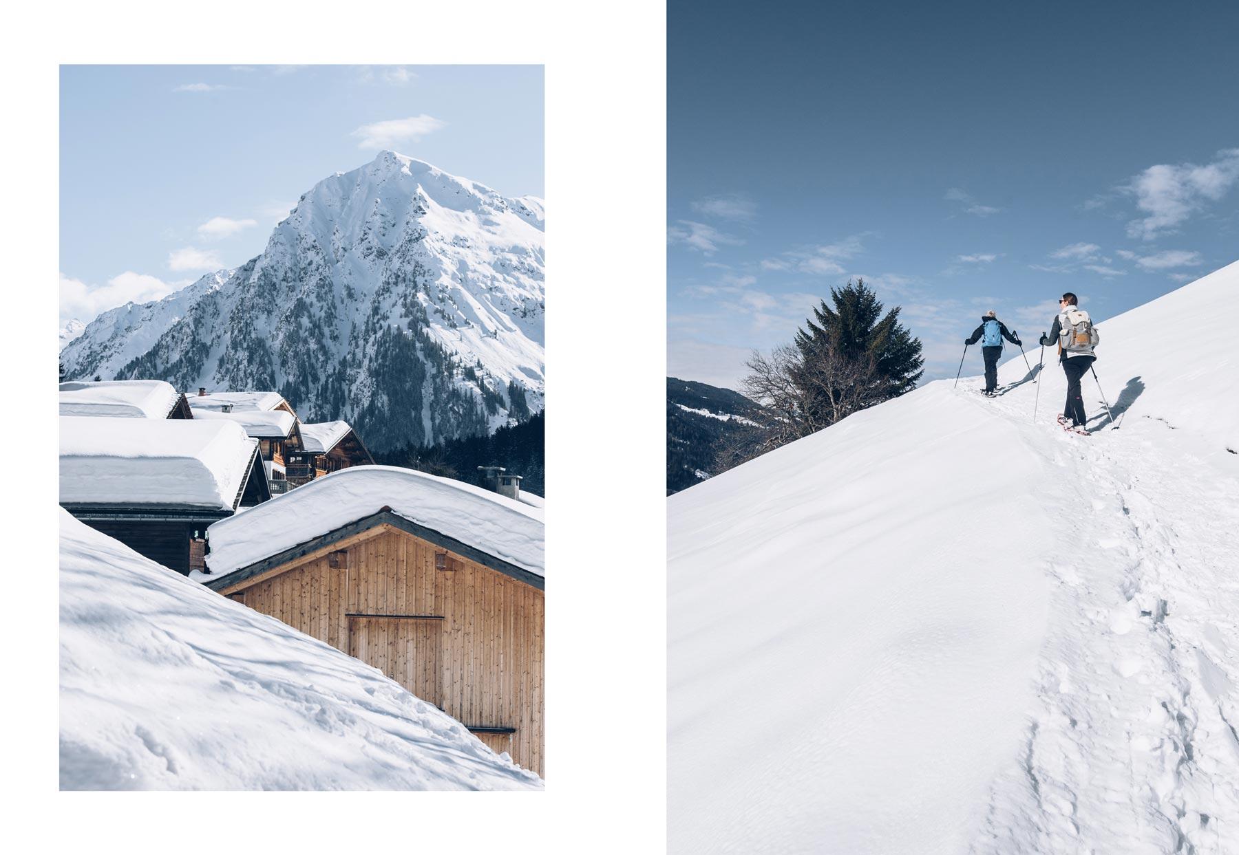 Sortie en Raquette, Klosters Dorf