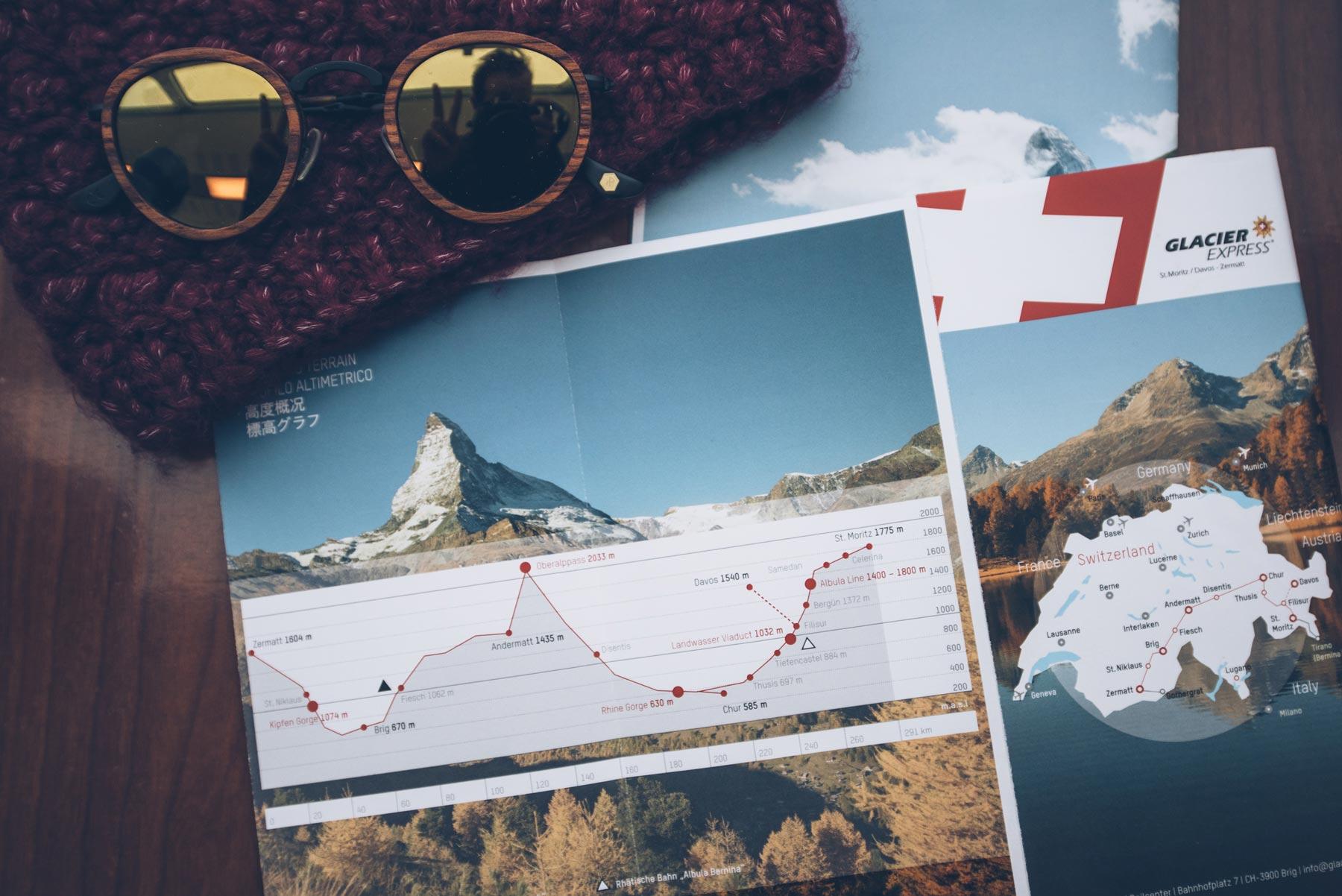 Parcours du Glacier Express, Suisse