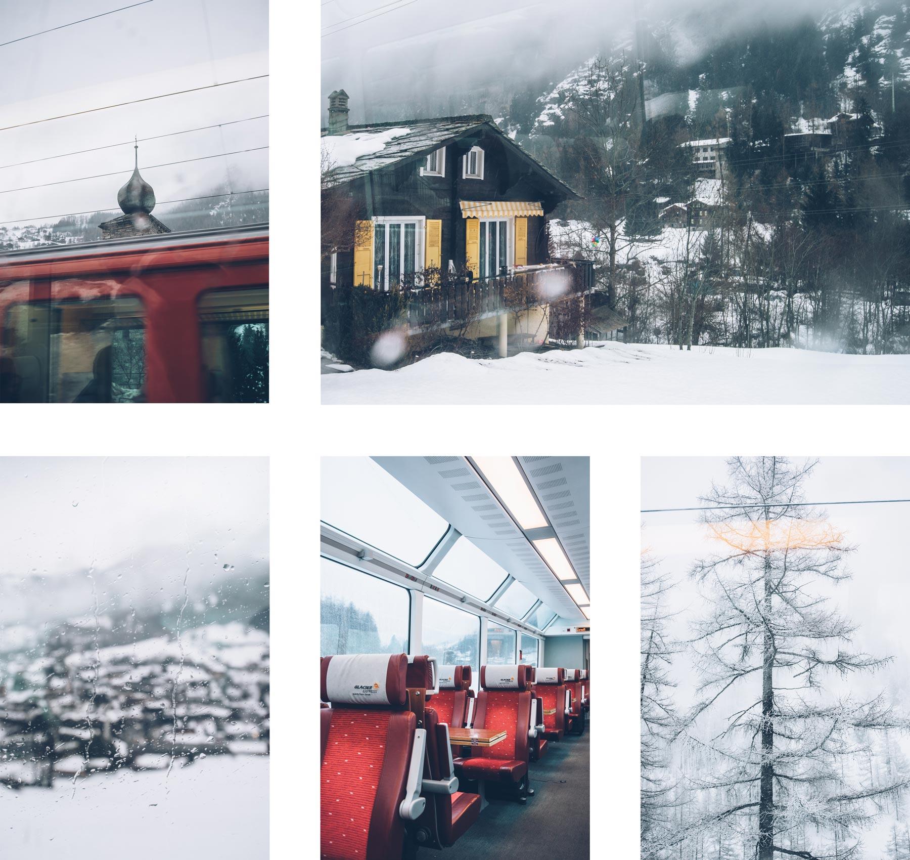Train panoramique Suisse: Le Glacier Express