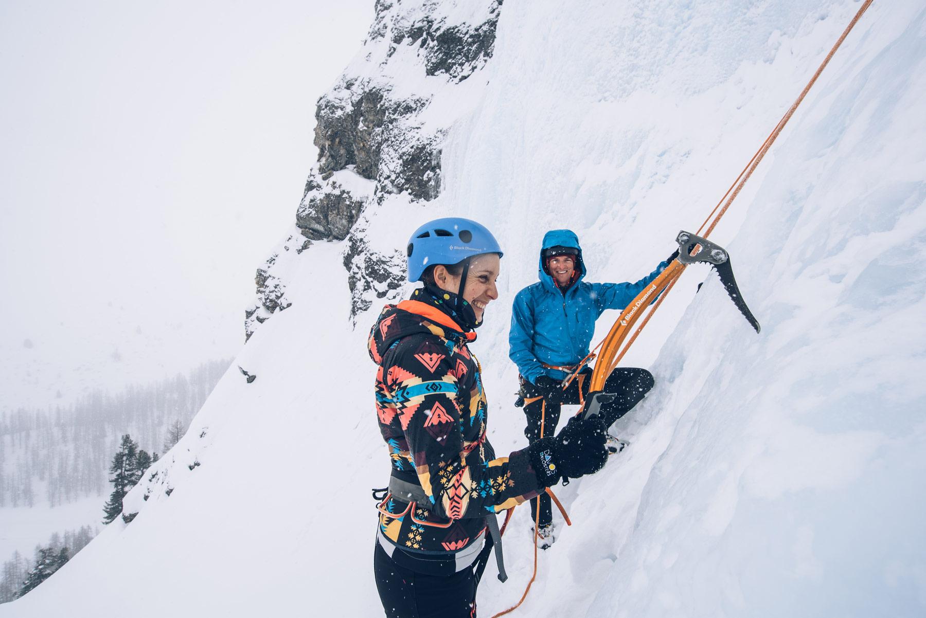 Escalade sur Glace, Davos