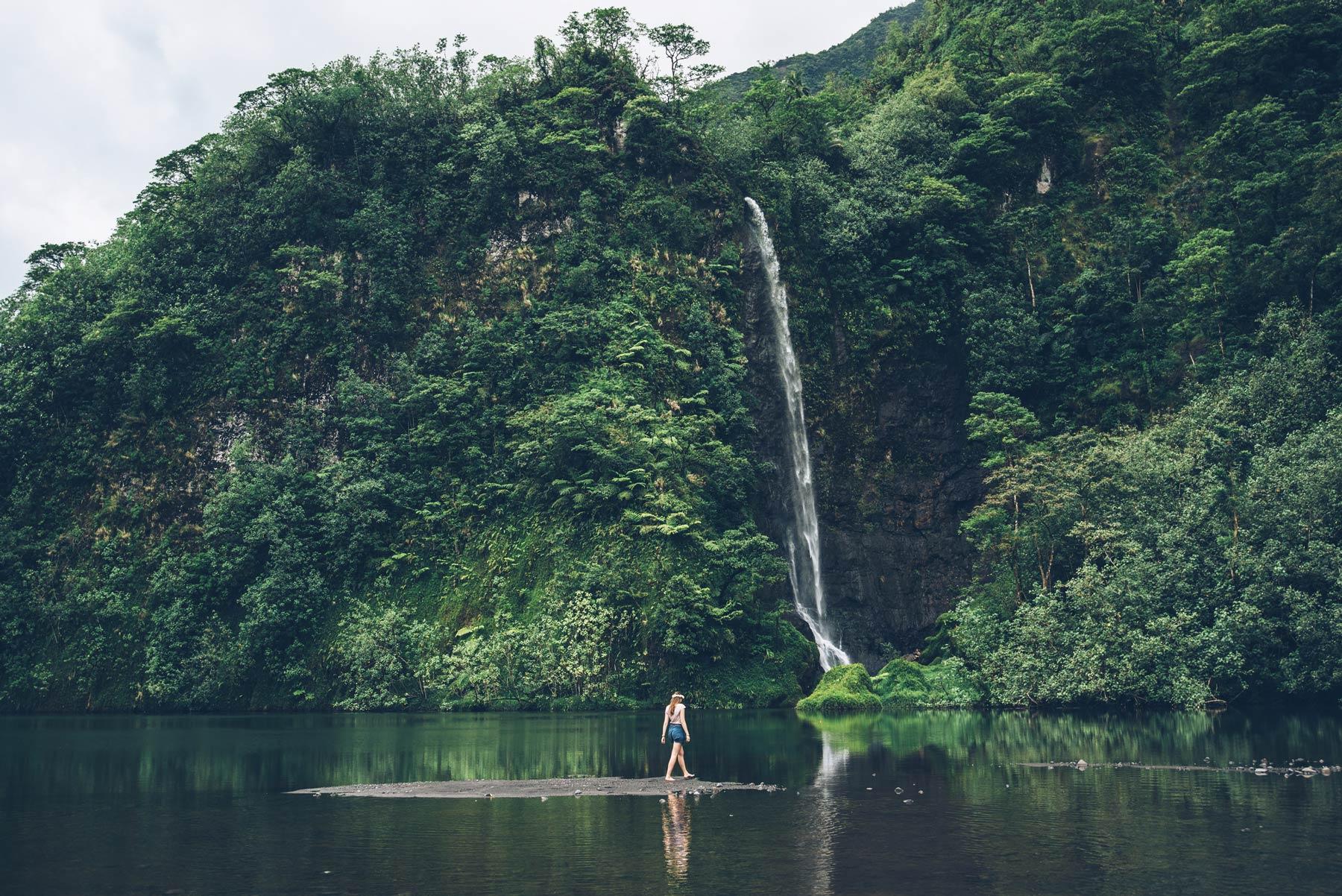 Cascade, Tahiti, Polynésie Française
