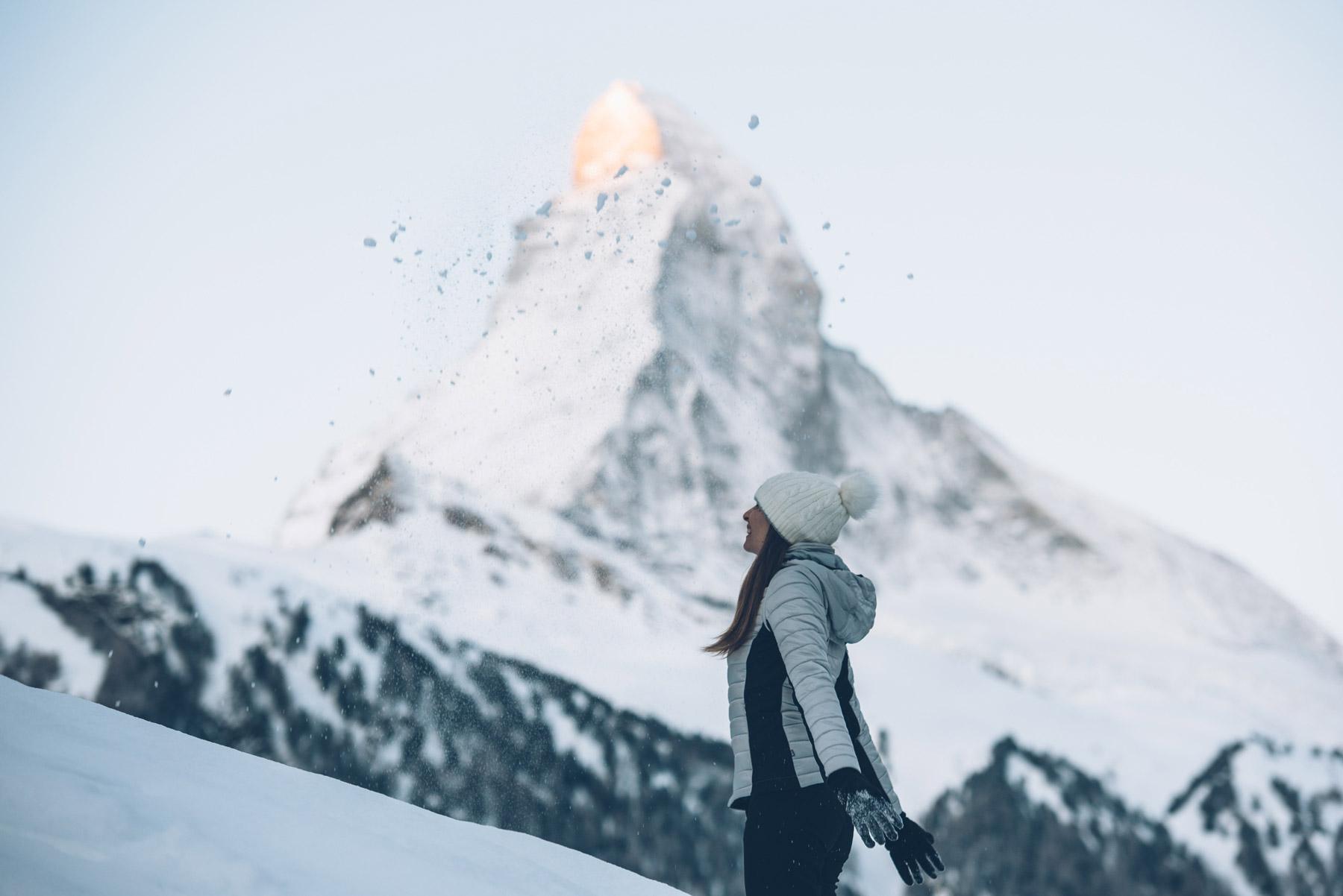 Photo devant le Cervin, Suisse