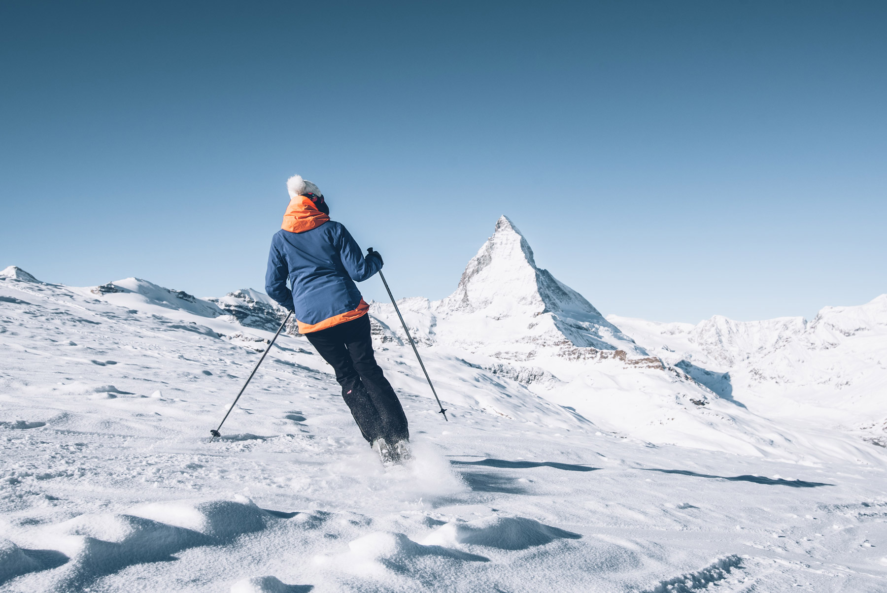 Skier à Zermatt