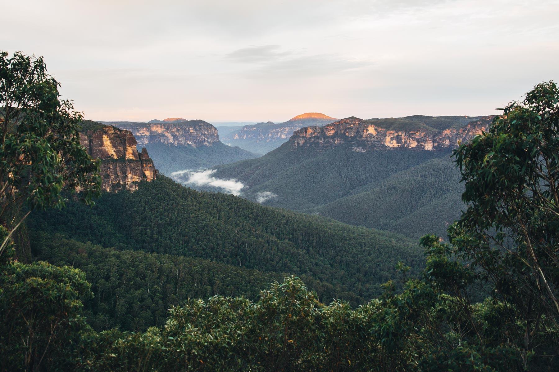 Blue Mountains près de Sydney