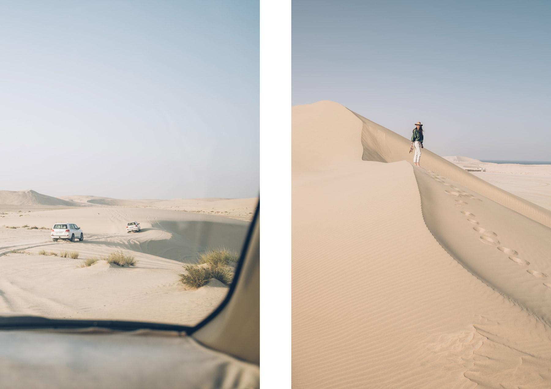 Dune de sable au Qatar