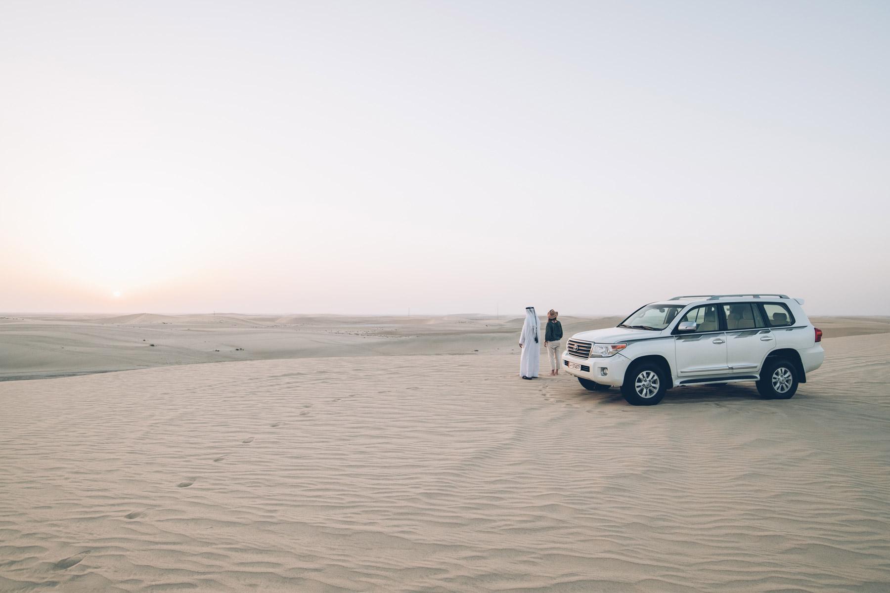 Coucher de soleil dans les dunes, Qatar