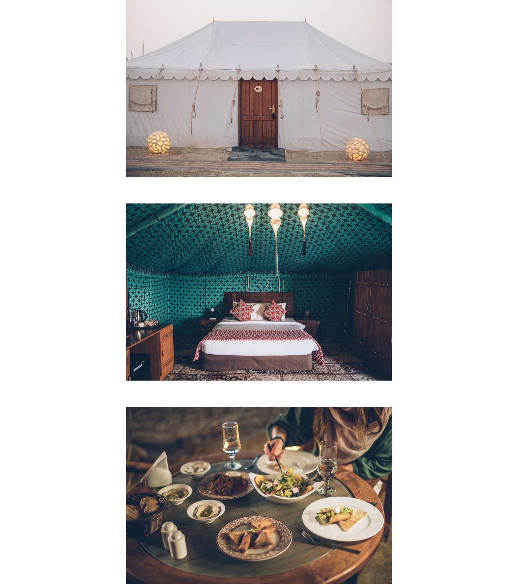 Camp dans le desert du Qatar