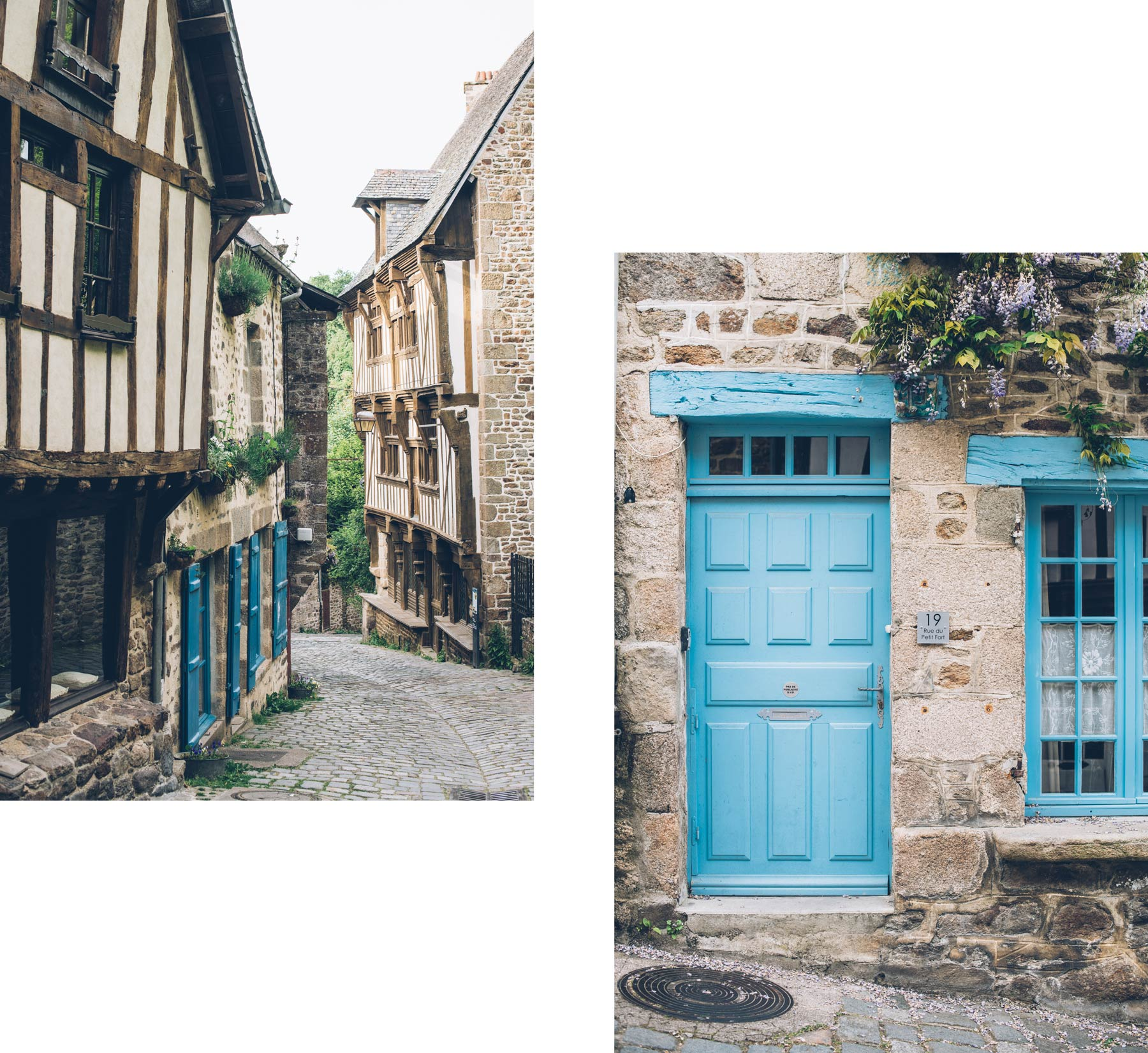 Rue du Jerzual, Dinan, Bretagne