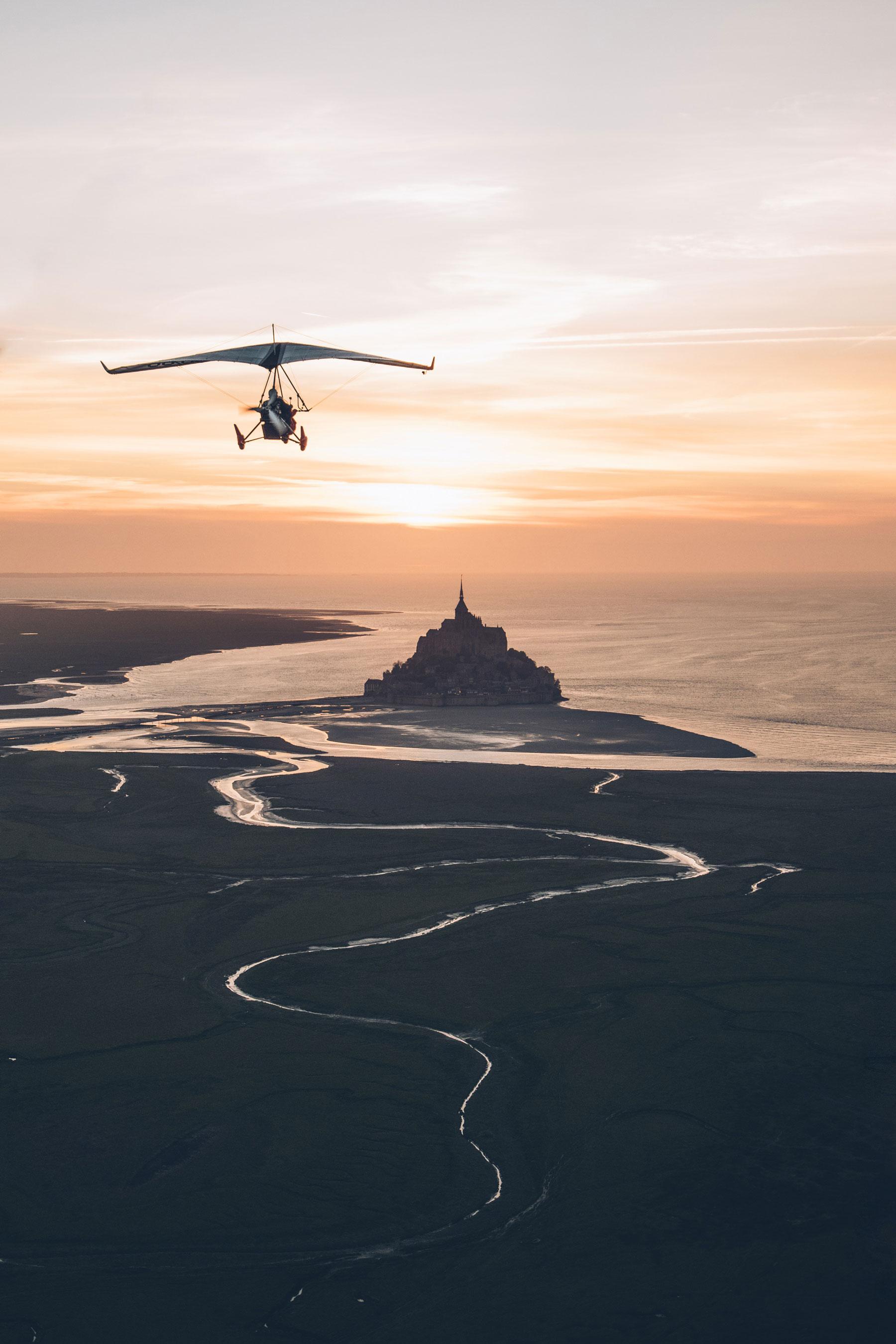 Vol en ULM au dessus du Mont St Michel