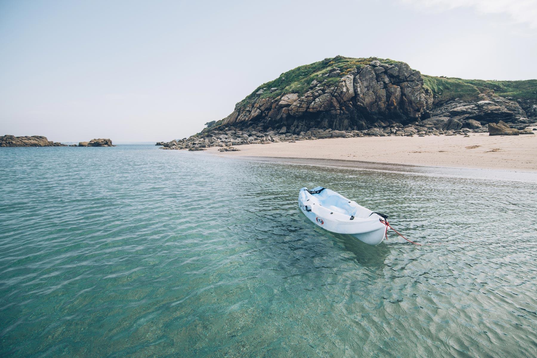 Location Kayaks pour faire le tour des Ebihens, St Jacut