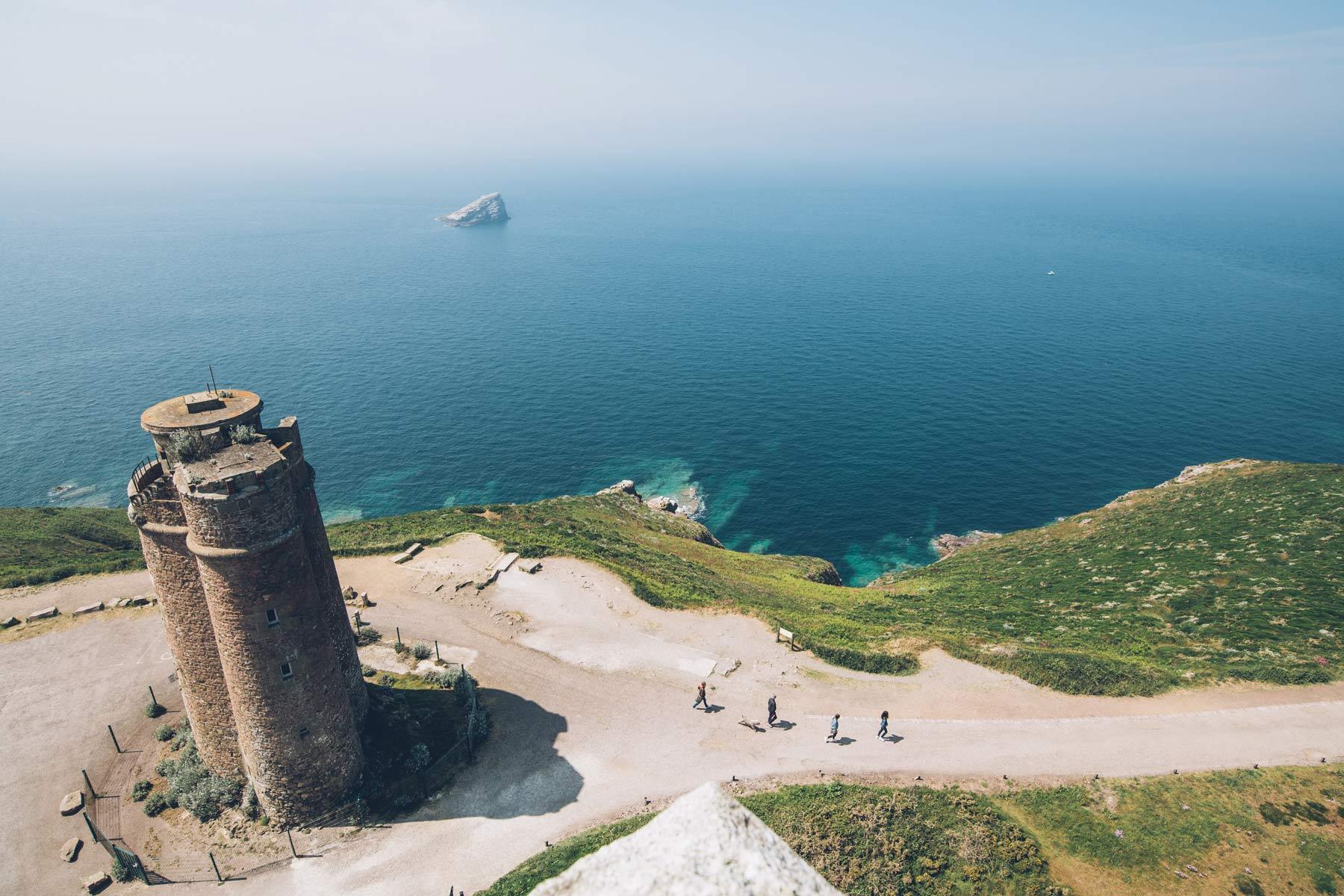 Vue depuis le haut du phare du Cap Fréhel
