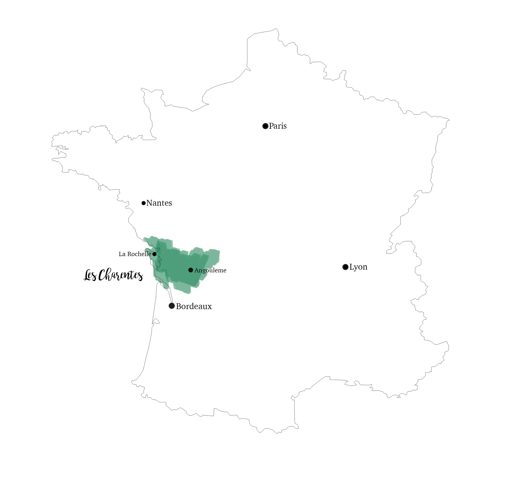 Les Charentes, Carte, Un Tour en France