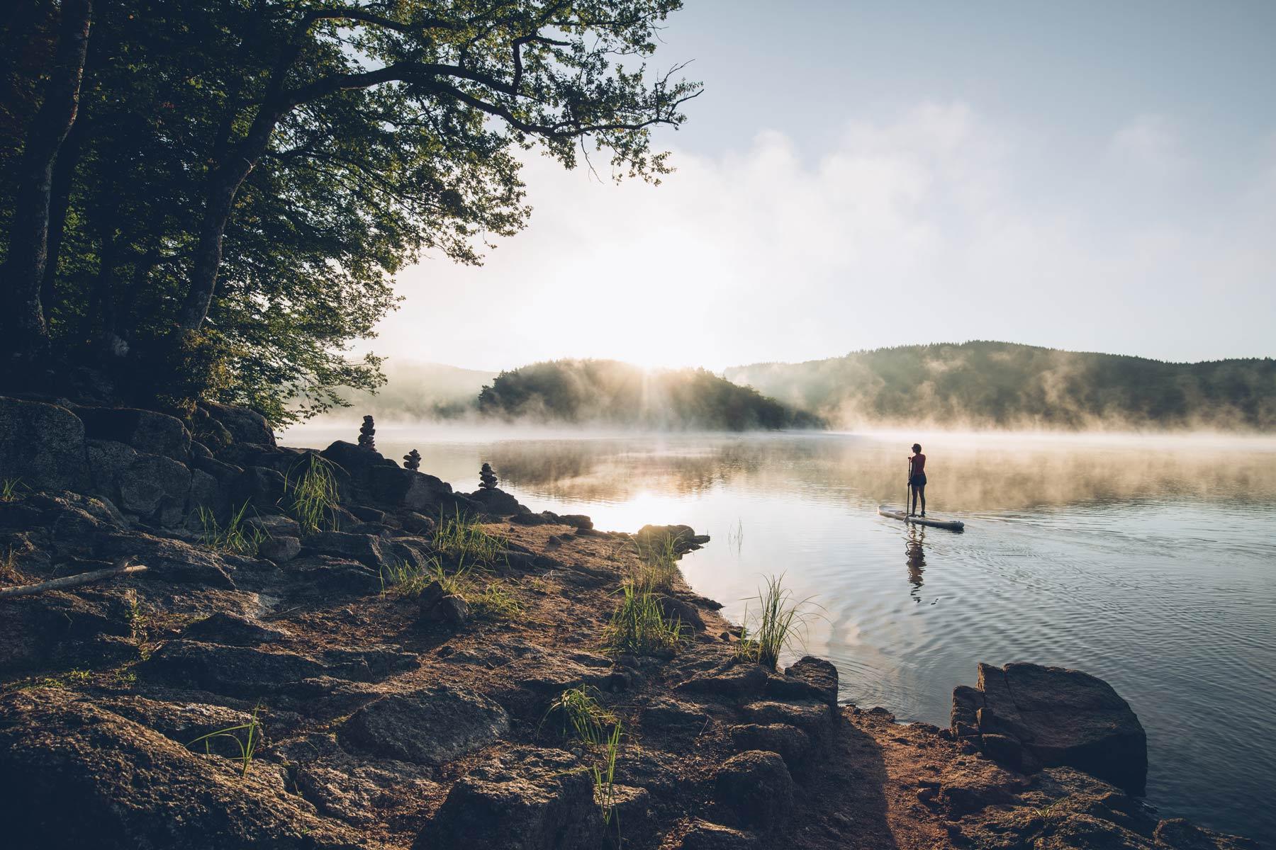 Paddle sur les lacs du Morvan, Bourgogne