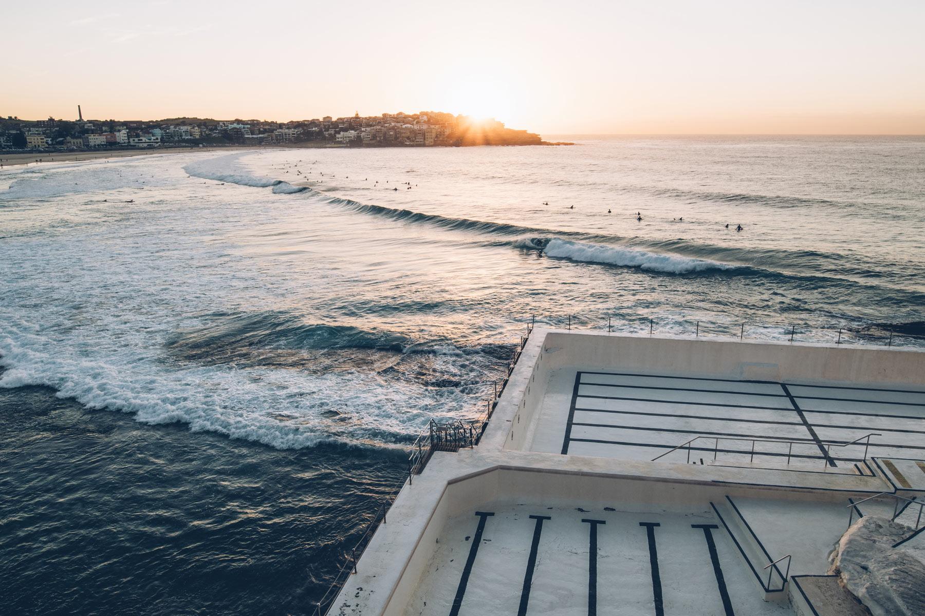 Bondi Beach piscine vide le jeudi