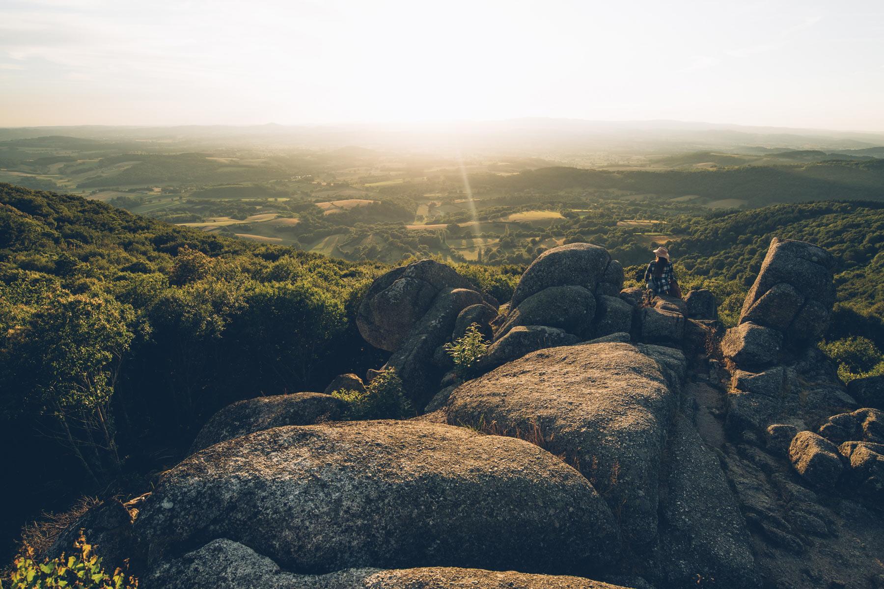 Uchon, Point de vue sur le Morvan depuis les rochers