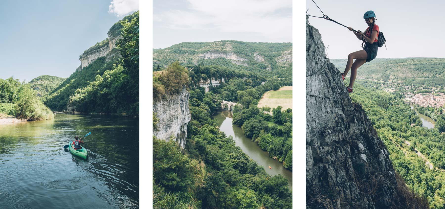 Gorge de l'Aveyron, Canoe ou Via Ferrata?