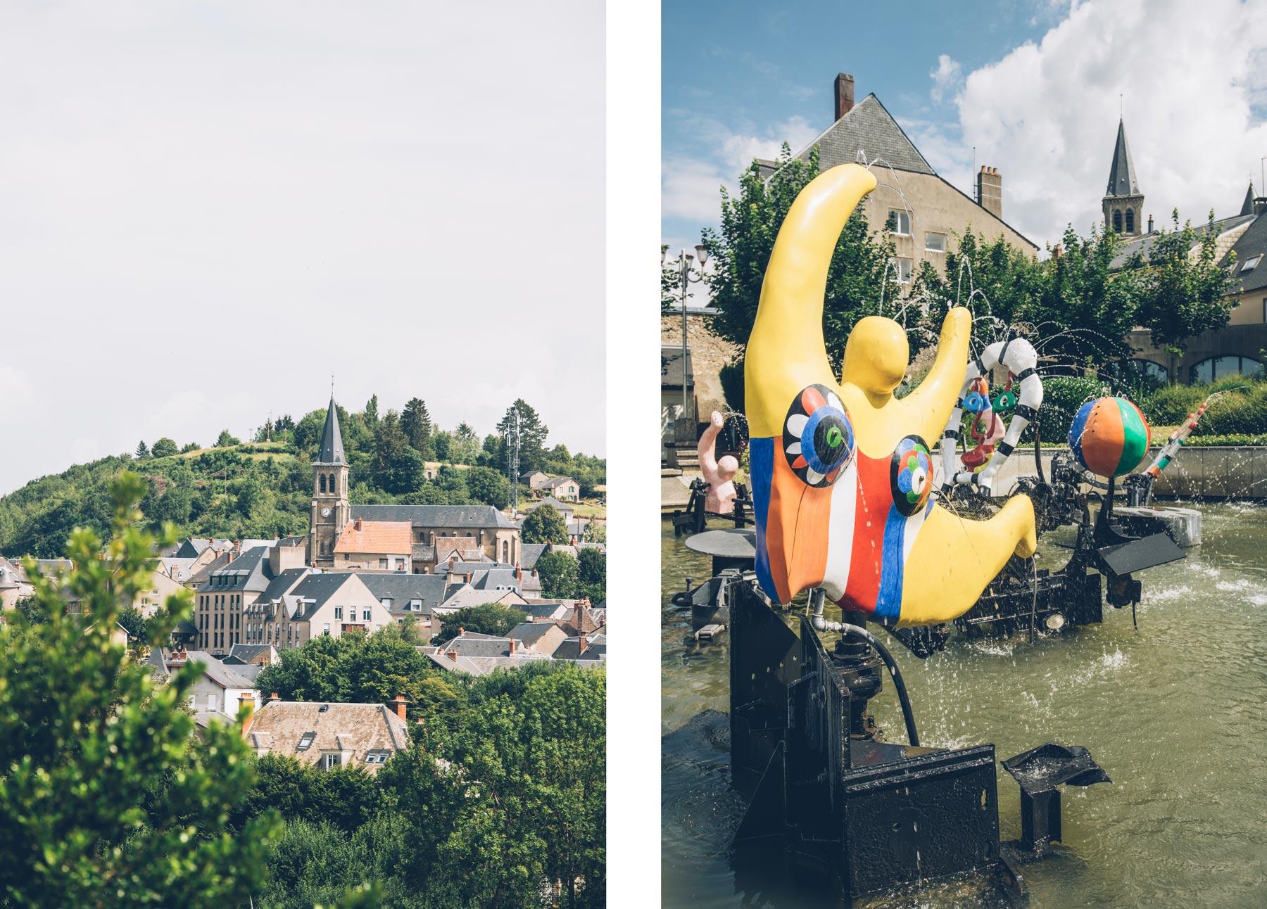 Château-Chinon, Fontaine Niki de Saint Phalle et de Jean Tinguely