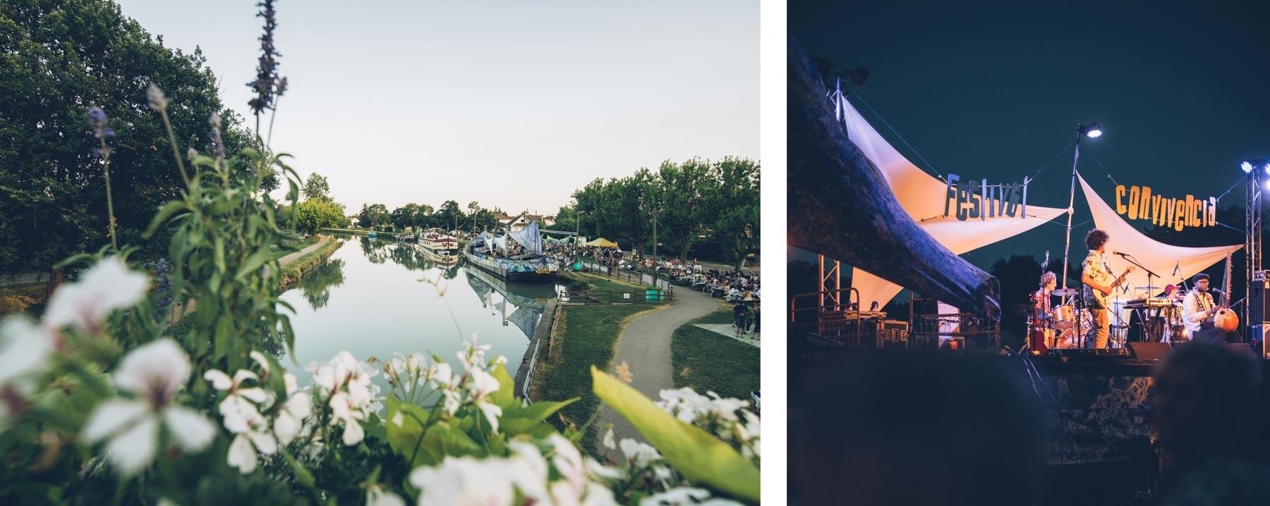 Festival Convivencia sur le Canal du Midi