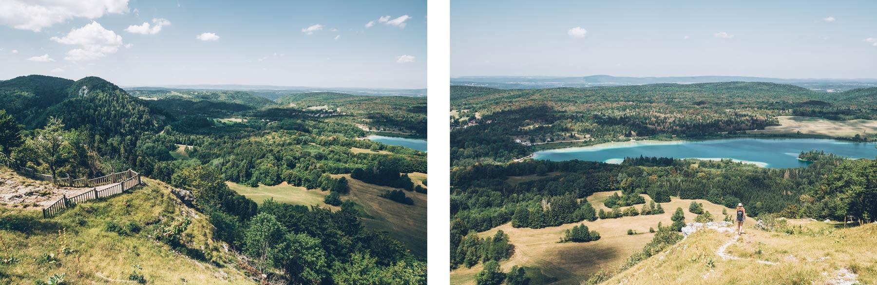 Vue depuis le Pic de l'Aigle, Jura
