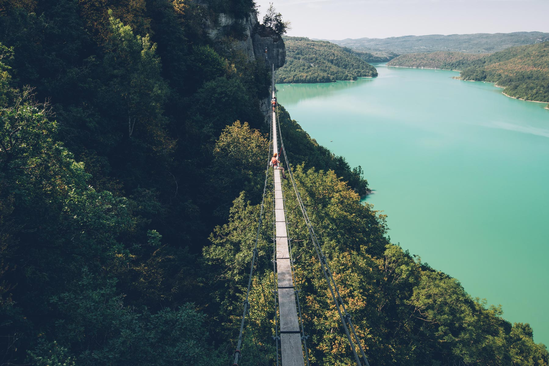 Pont Suspendu, Jura, Vouglans, via Ferrata