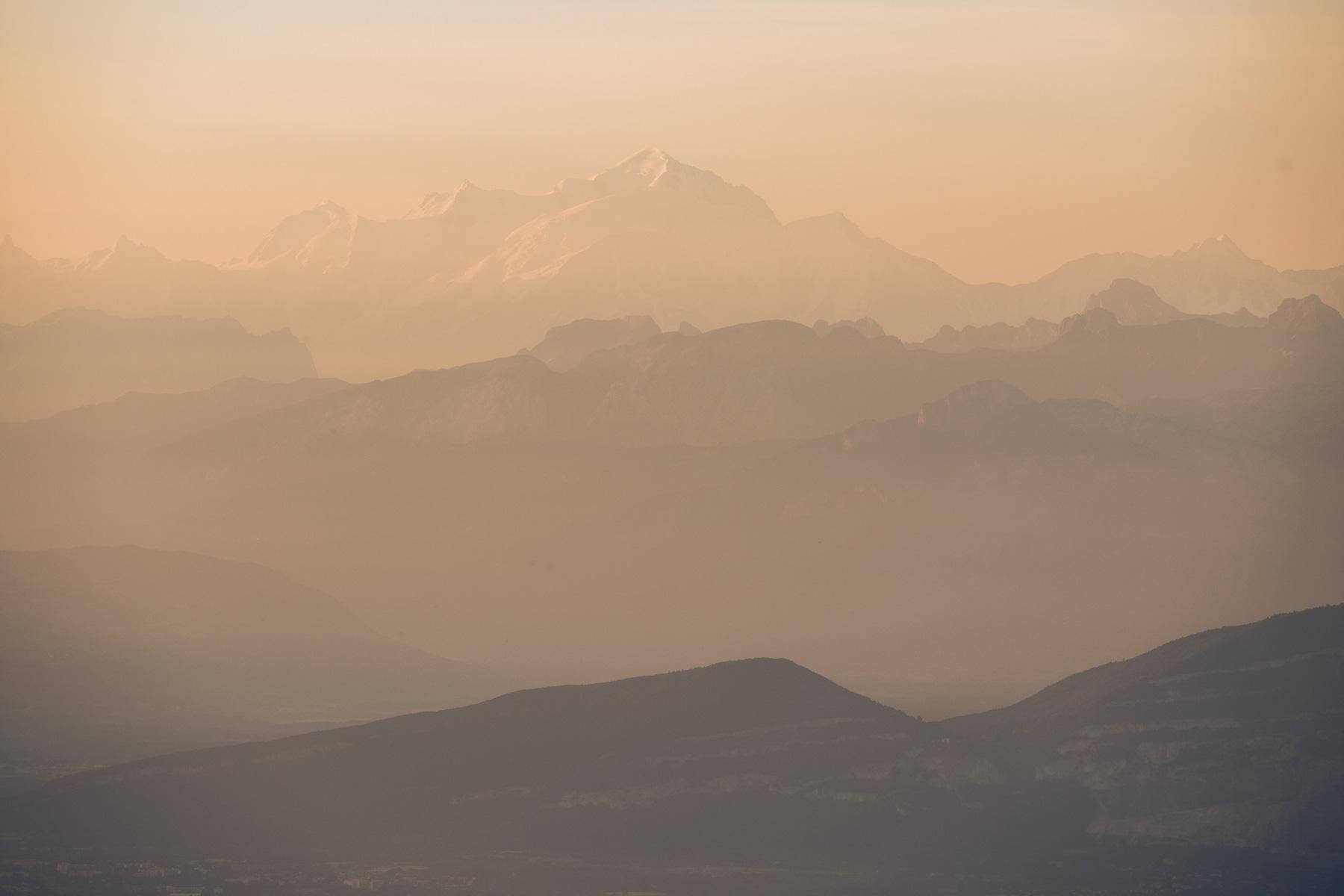Le Mont Blanc depuis le Jura