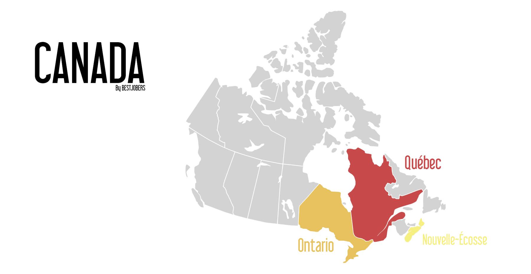 Carte Automne au Canada