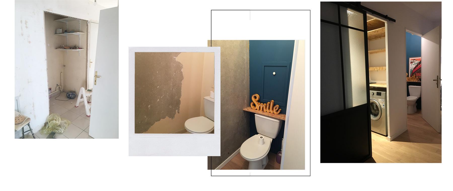 renovation wc et buanderie