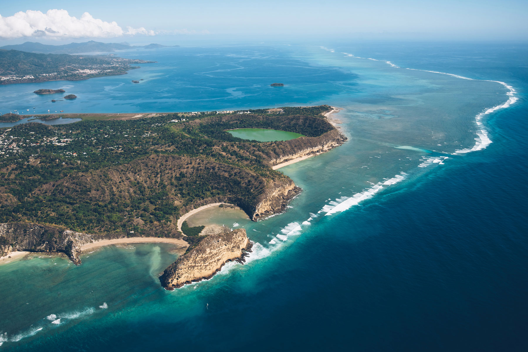 Lac Dziani depuis les airs, ULM TipTop Mayotte
