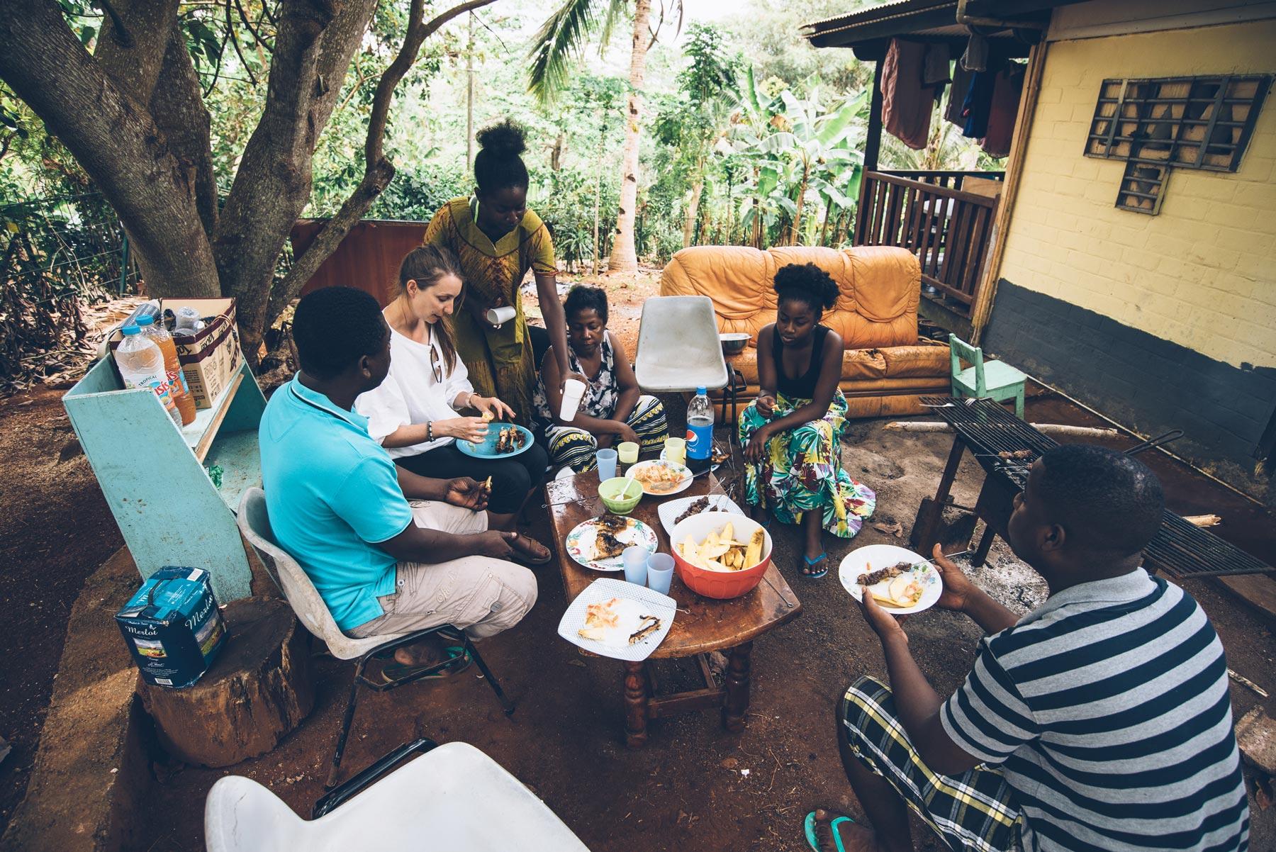 Barbecue chez Attoumani, Mayotte