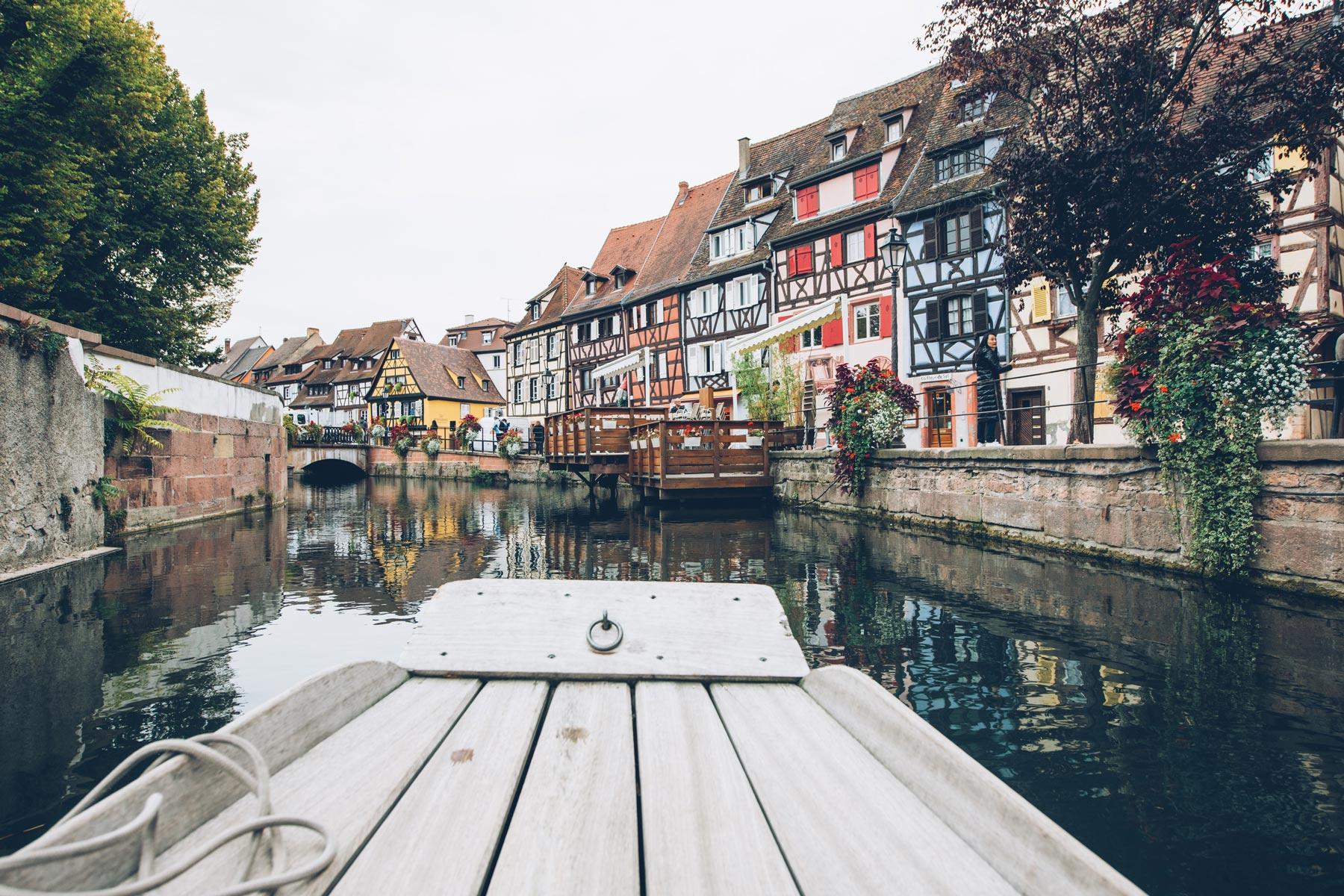 Colmar, visite en barque à fond plat