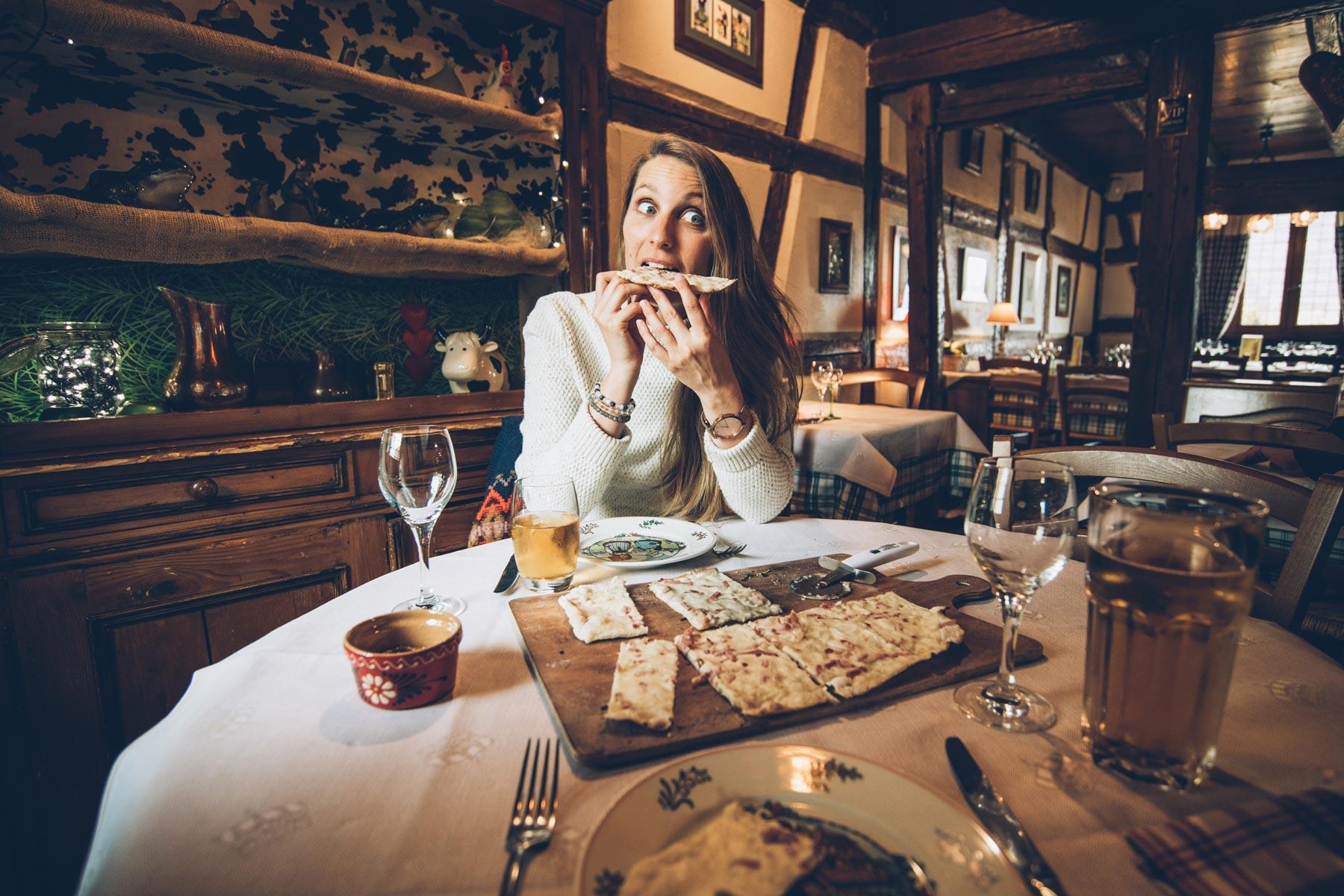 La meilleure tarte flambée d'Alsace? Restaurant la Couronne à Scherwiller