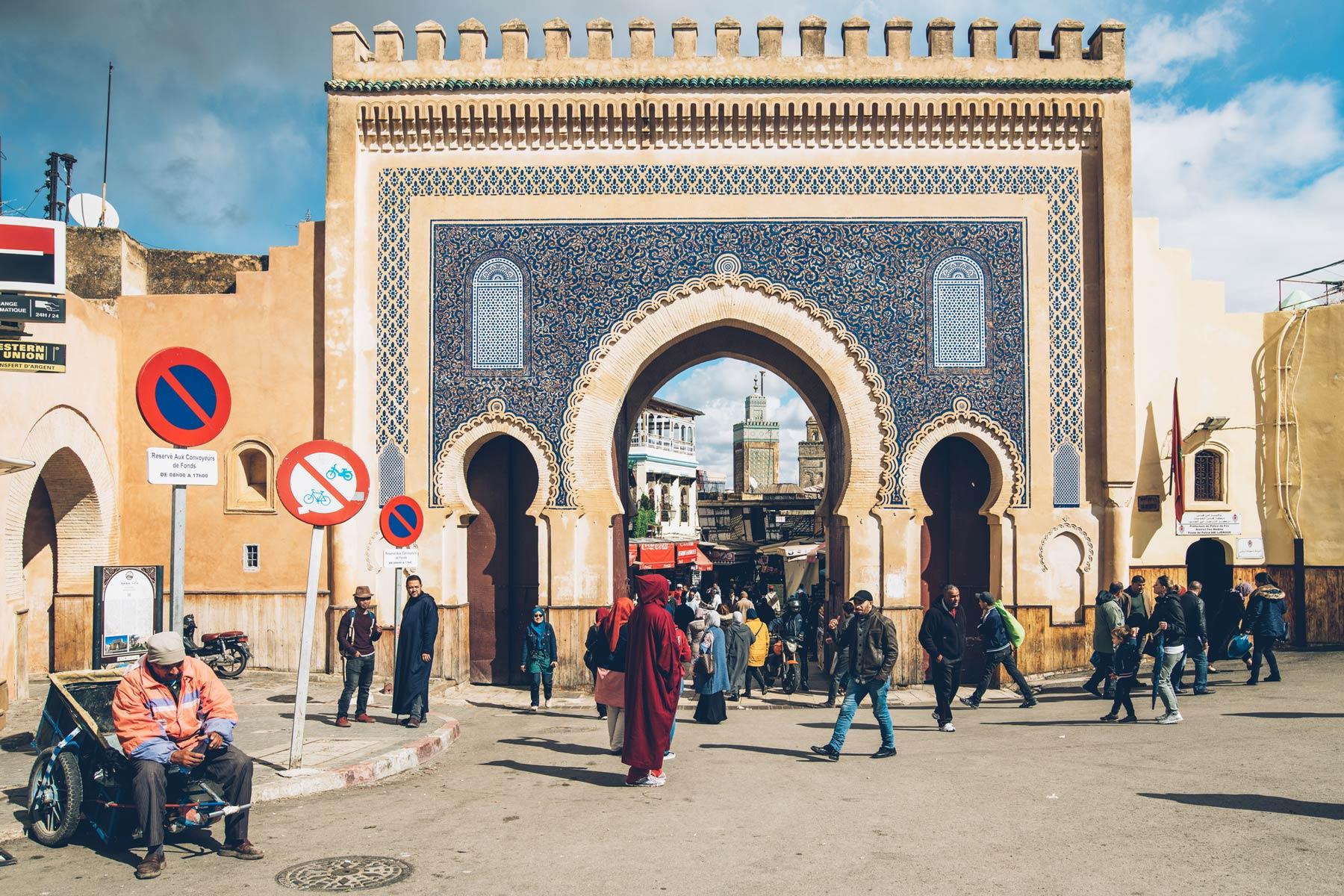 La Porte Bleue, Fès, Maroc