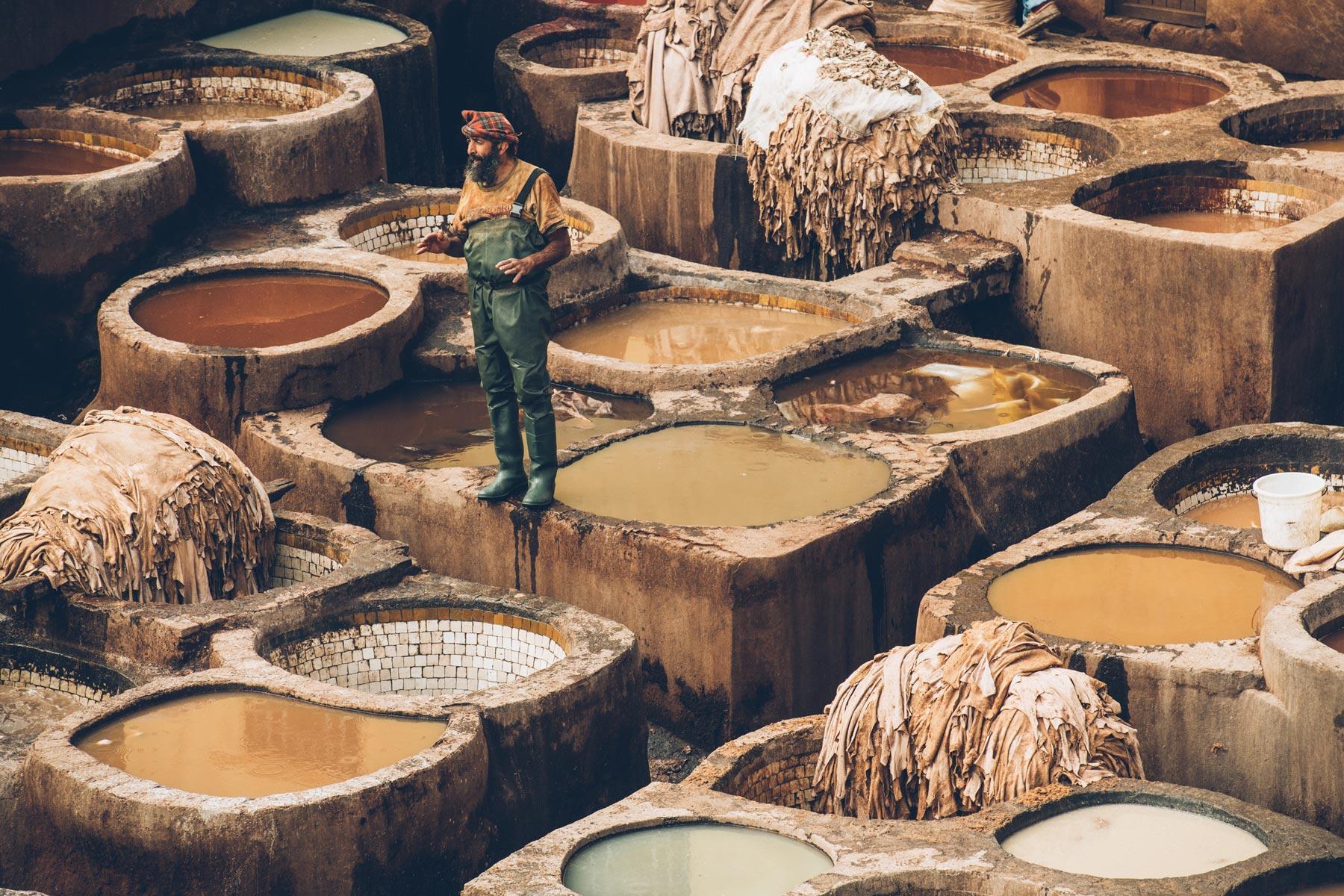 Les Tanneries de Fès, Maroc