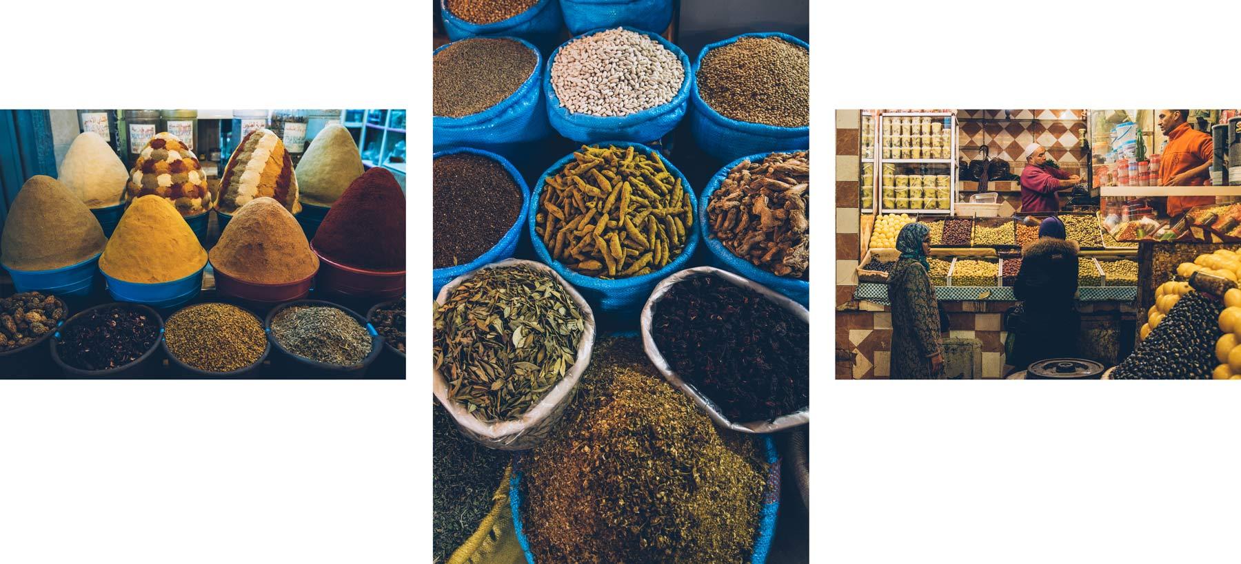 Marché Meknès, Maroc