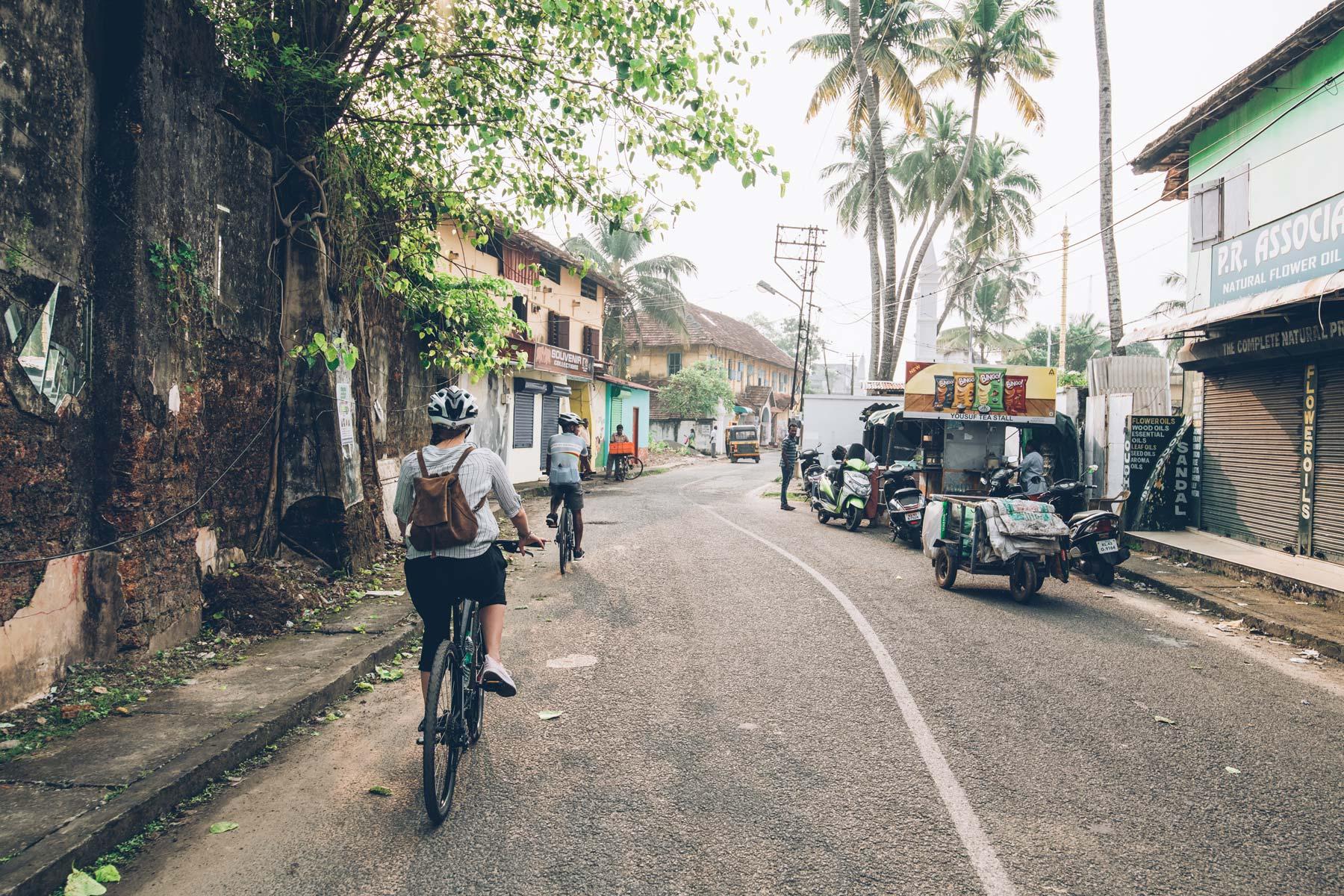 Tour de vélo à Cochin, Kerala, Inde