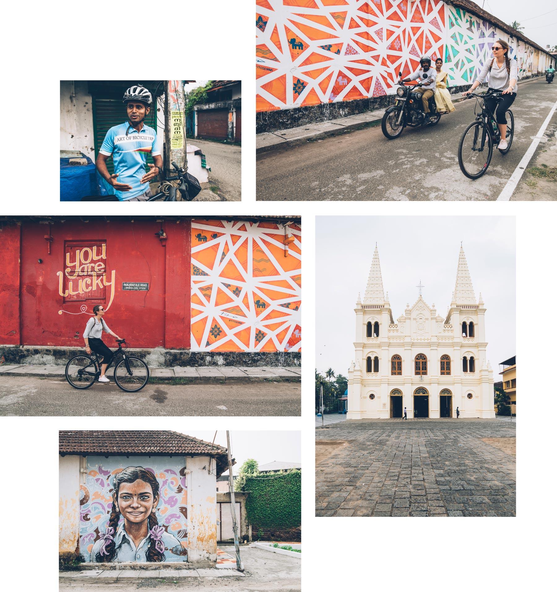 Visite de Cochin en vélo, Kérala