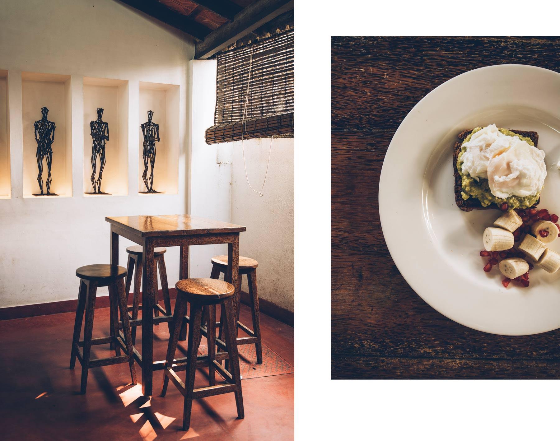 Café sympa à Fort Cochin, Kashi Art Café