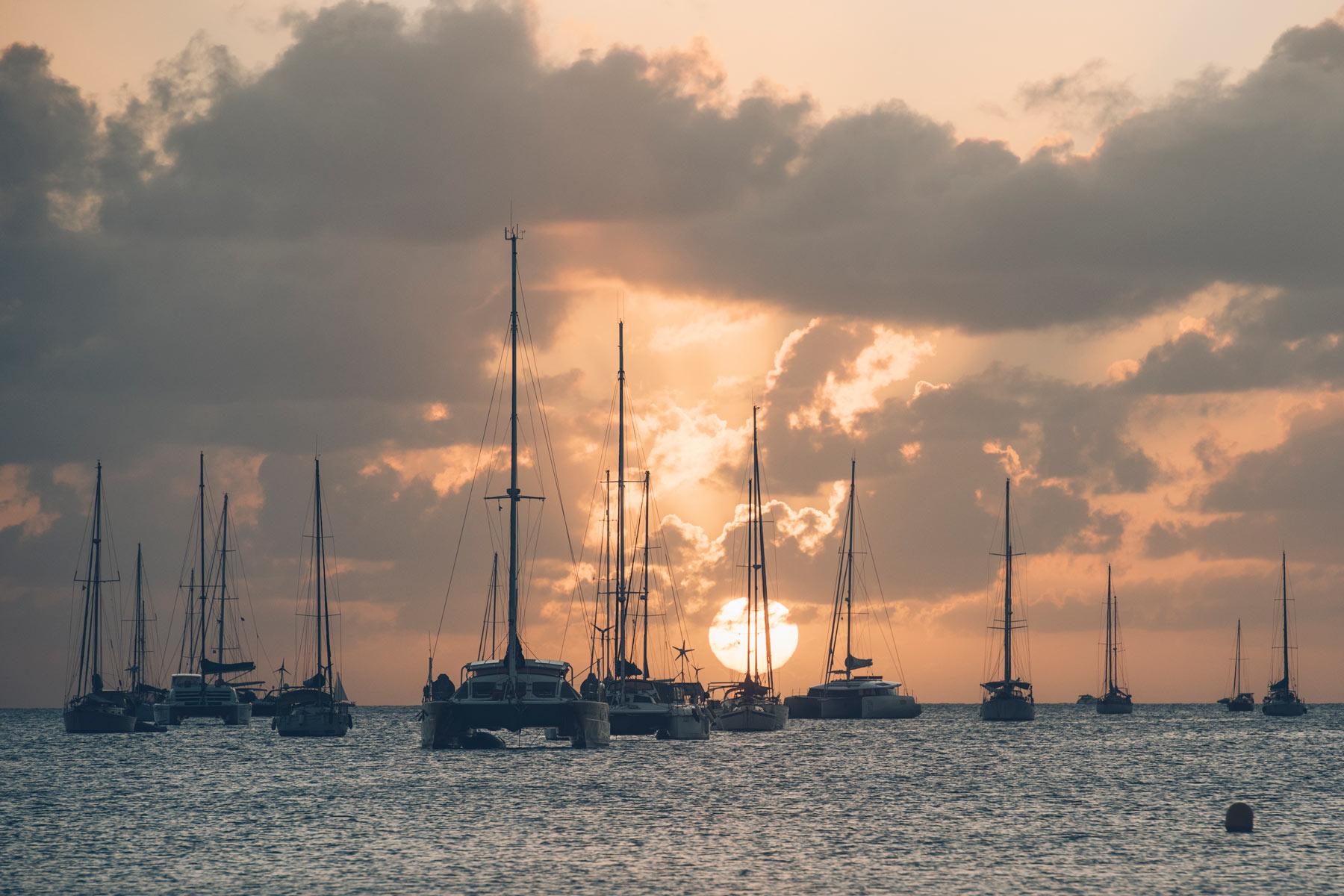 Départ de la croisière en Martinique