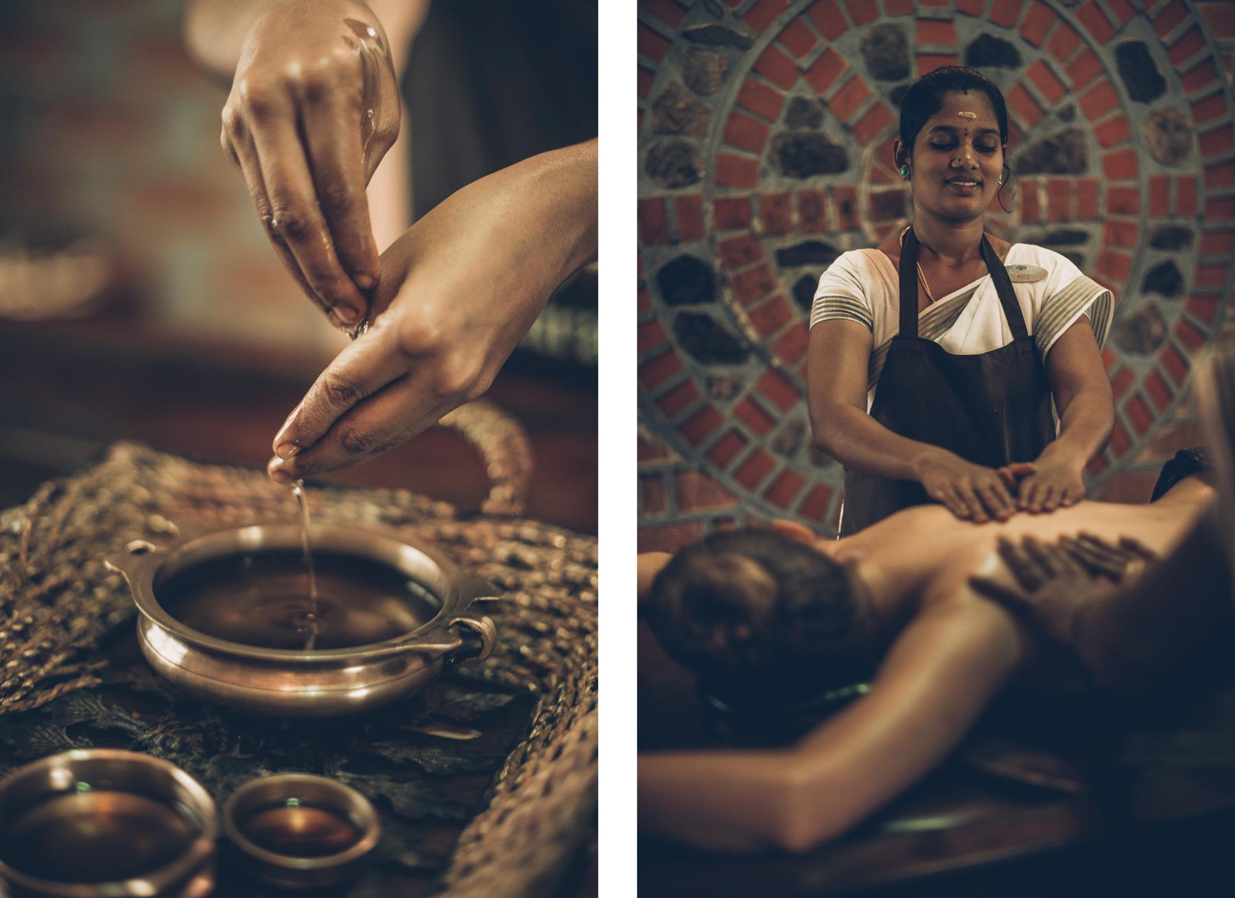 Massage abhyanga, Kerala, Inde