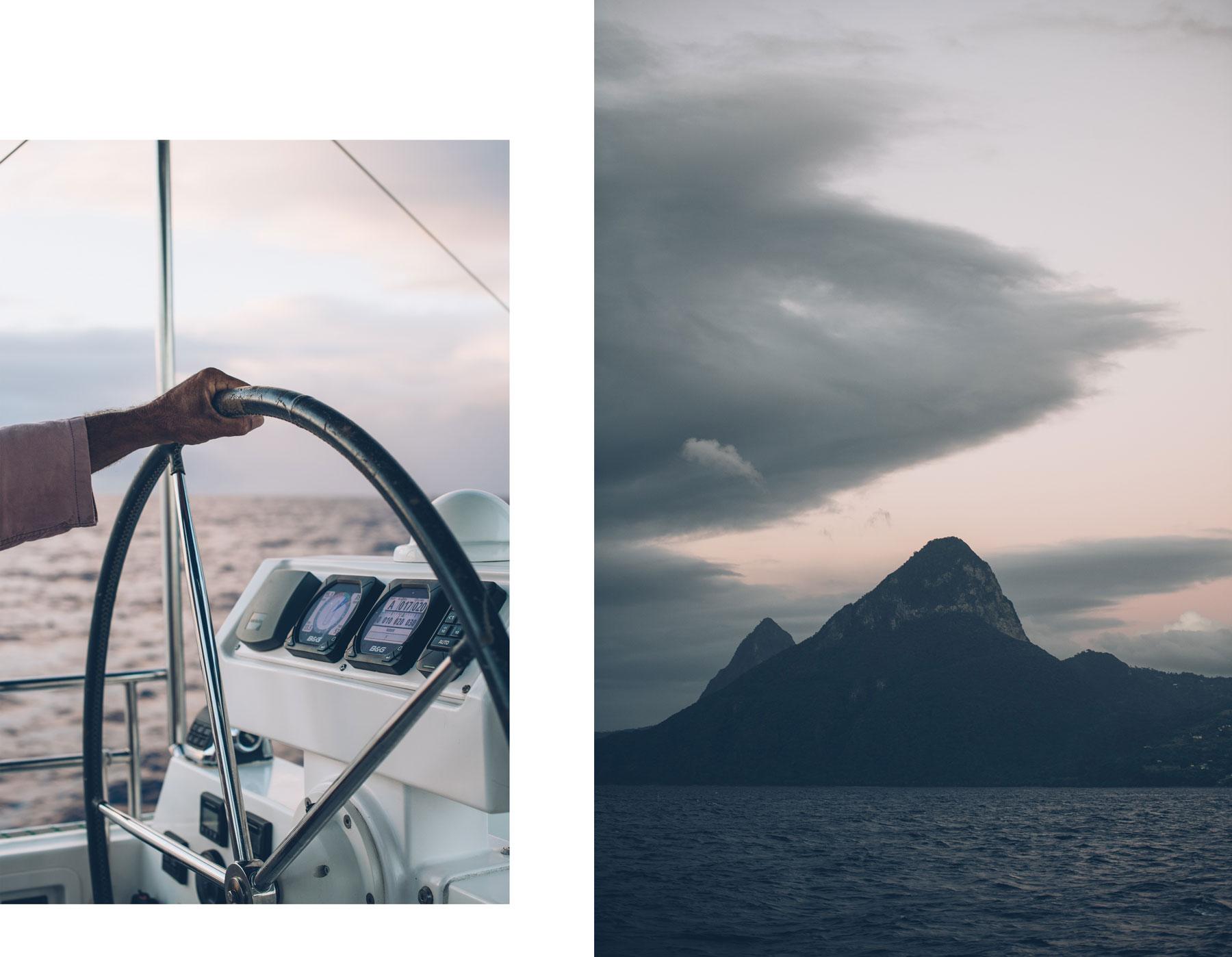 Sainte Lucie en vue, Croisière Grenadines