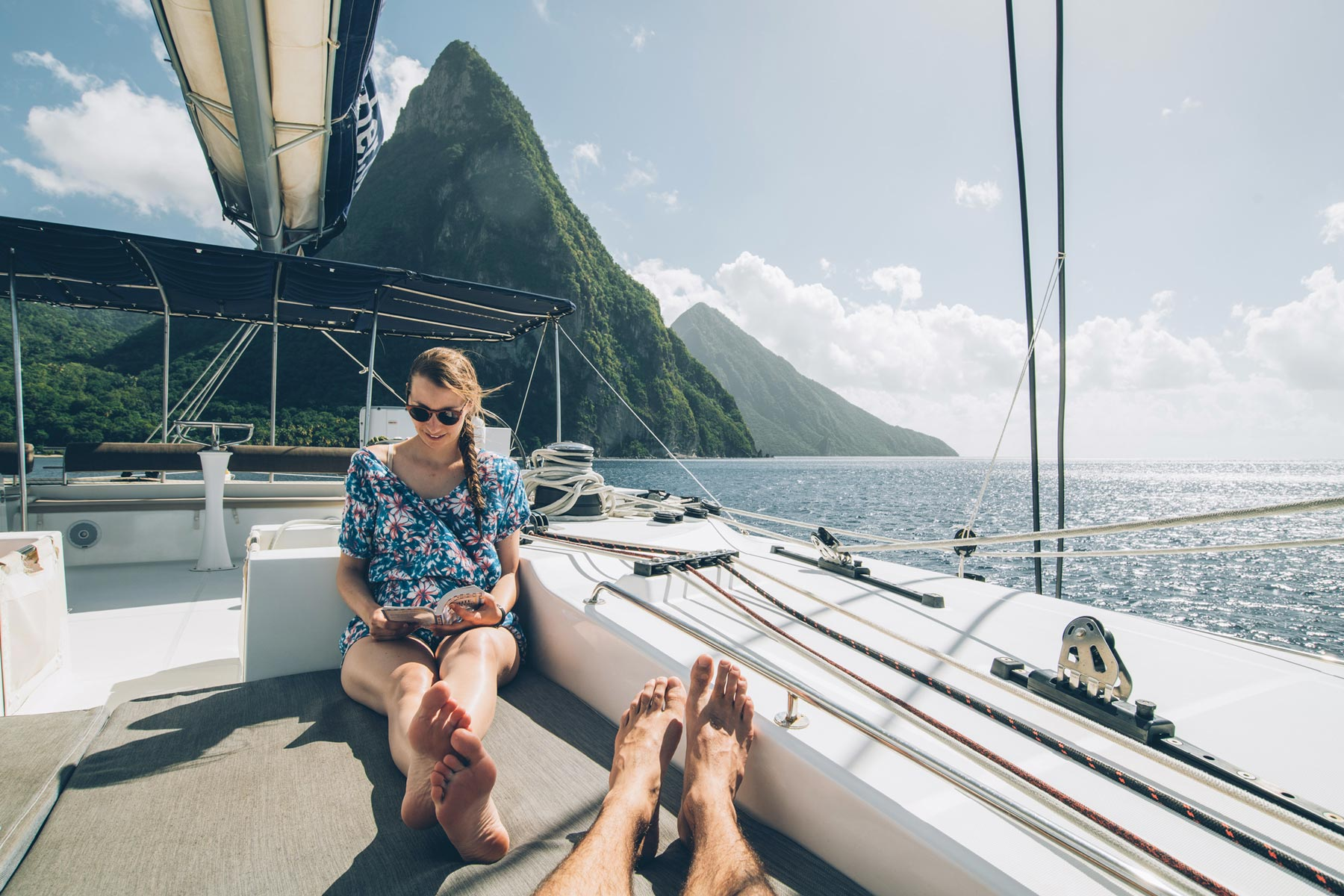 Croisière dans les Grenadines, Sainte Lucie