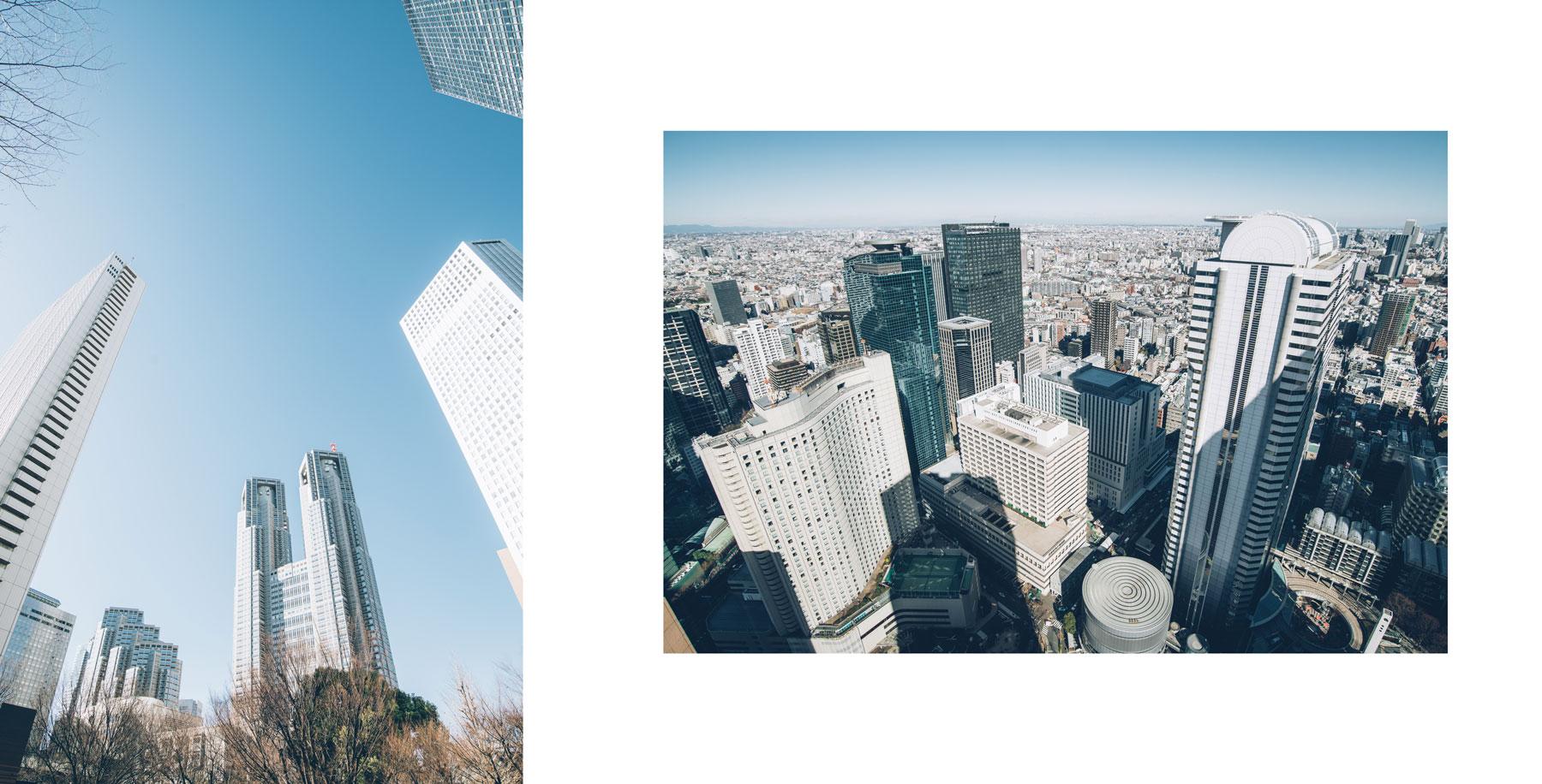 Tours jumelles avec une plateforme d'observation gratuite du gouvernement métropolitain de Tokyo