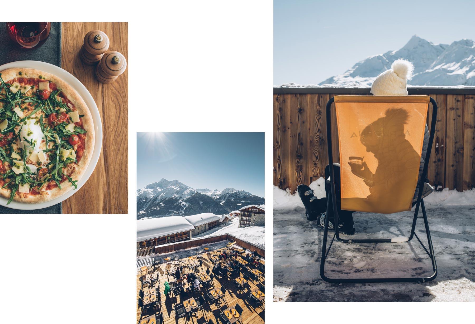 Restaurant sur les pistes: Le Solario, Hotel Alparena