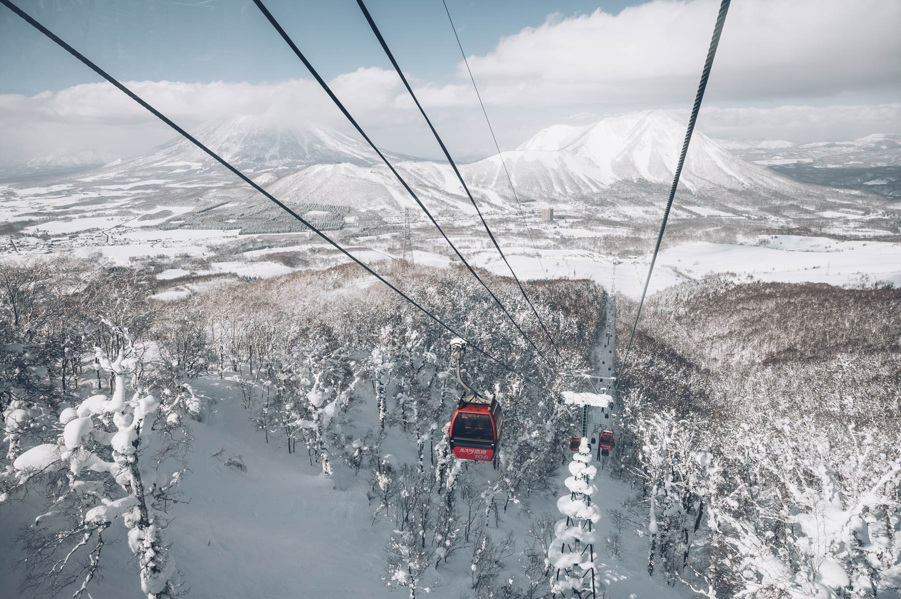 Ou skier au Japon? A Rusutsu sur l'ile d'Hokkaido