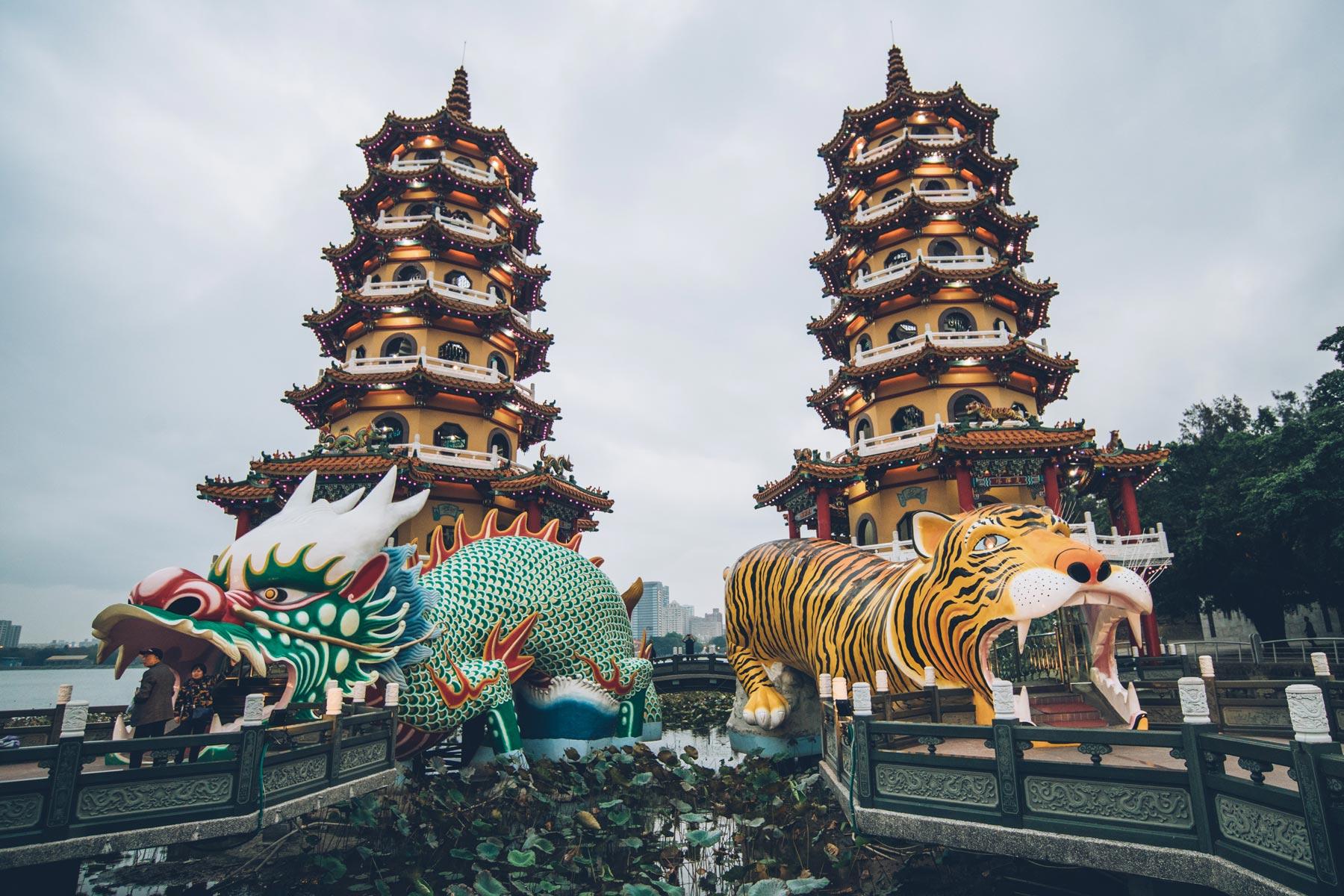Pagodes du Tigre et Dragon, Kaohsiung, Taiwan