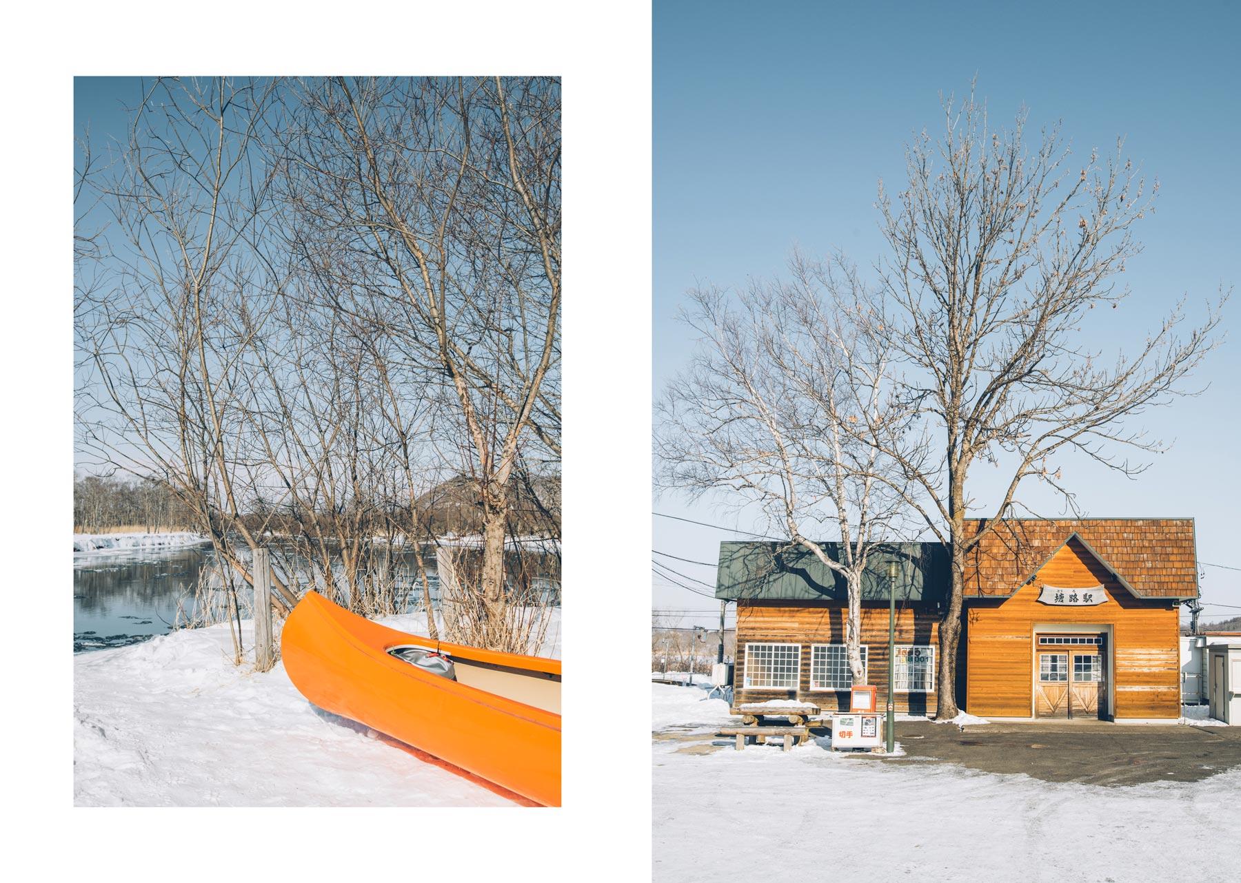Canoe sur la rivière Kushiro, Hokkaido