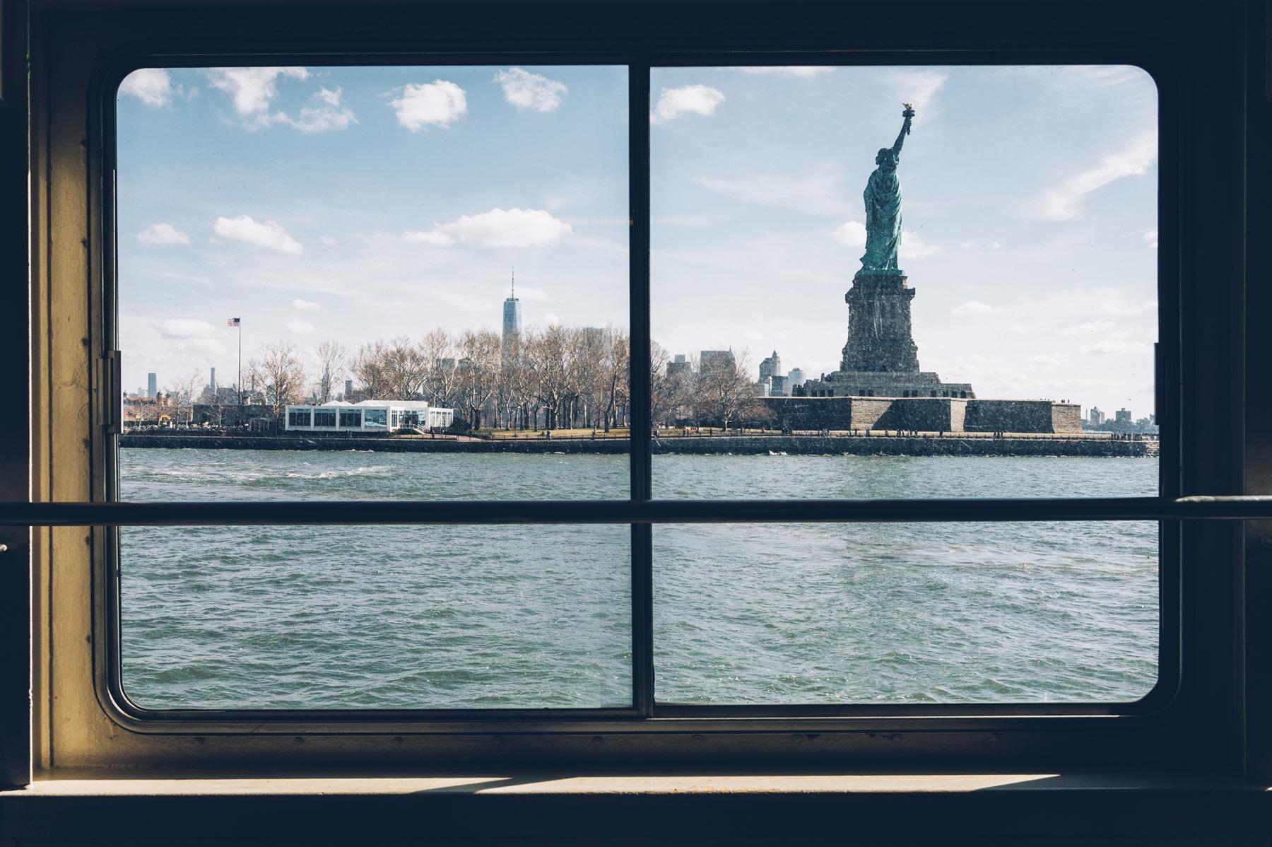 Ferry pour la Statue de la Liberté, New York