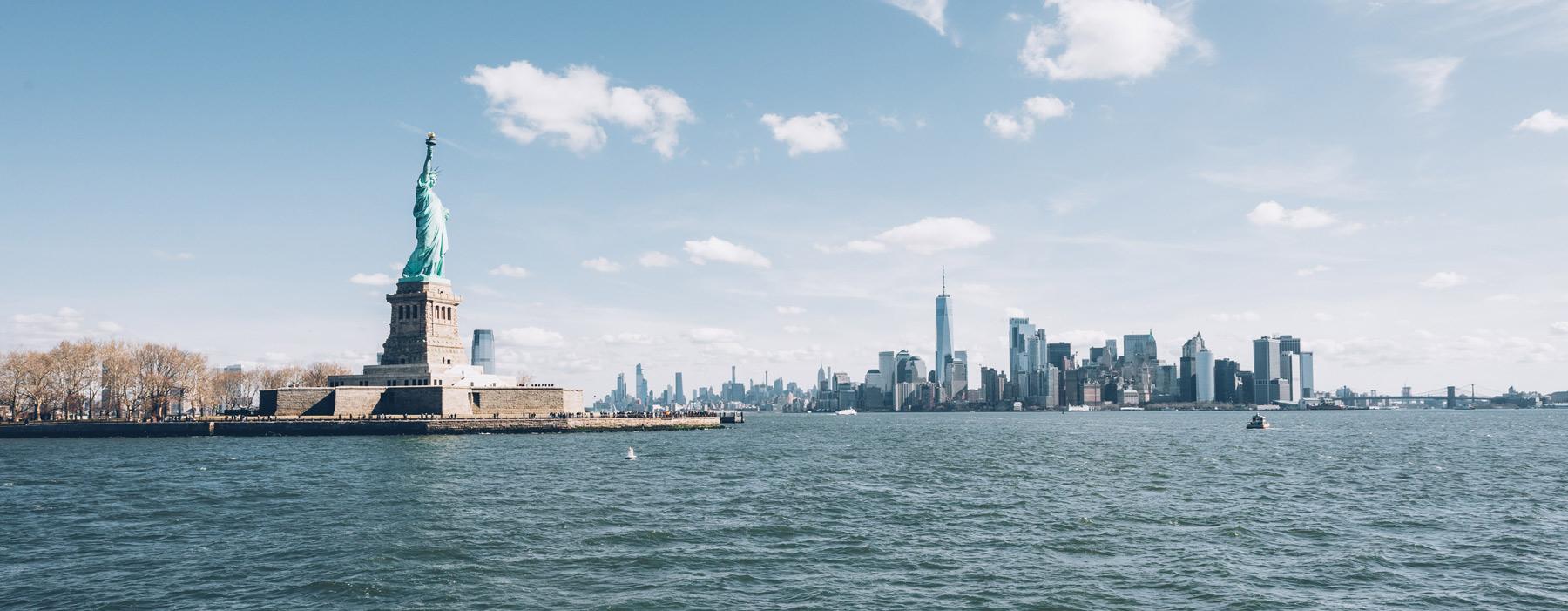 Vue depuis le Ferry, Statue de la Liberté, NYC