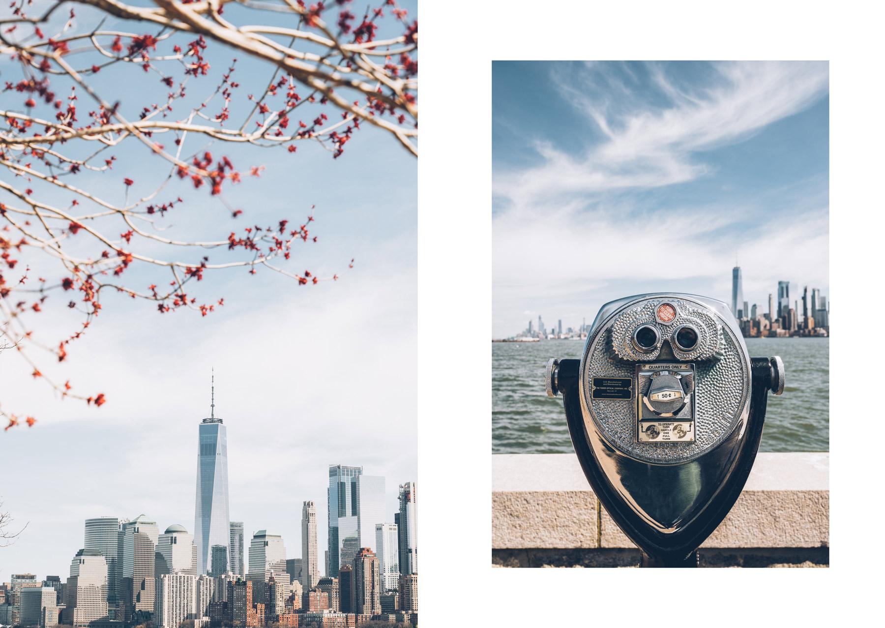 Vues depuis Ellis Island, NYC