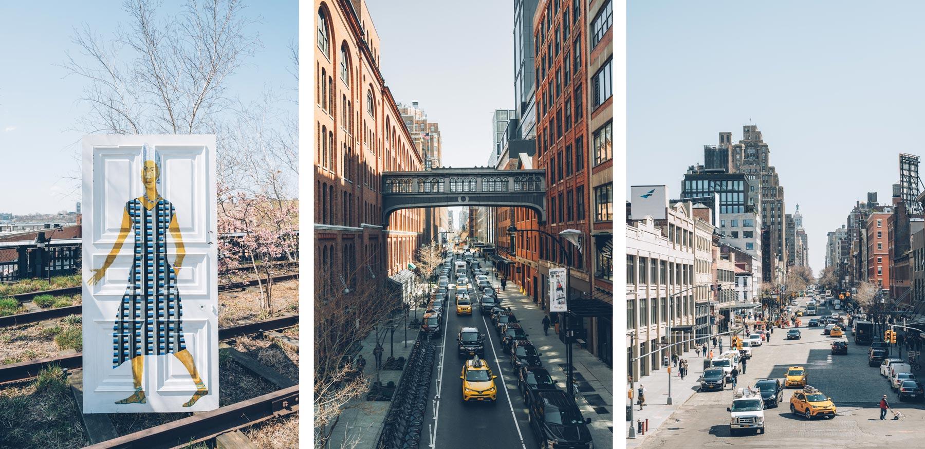 Vues depuis la Highline, New York